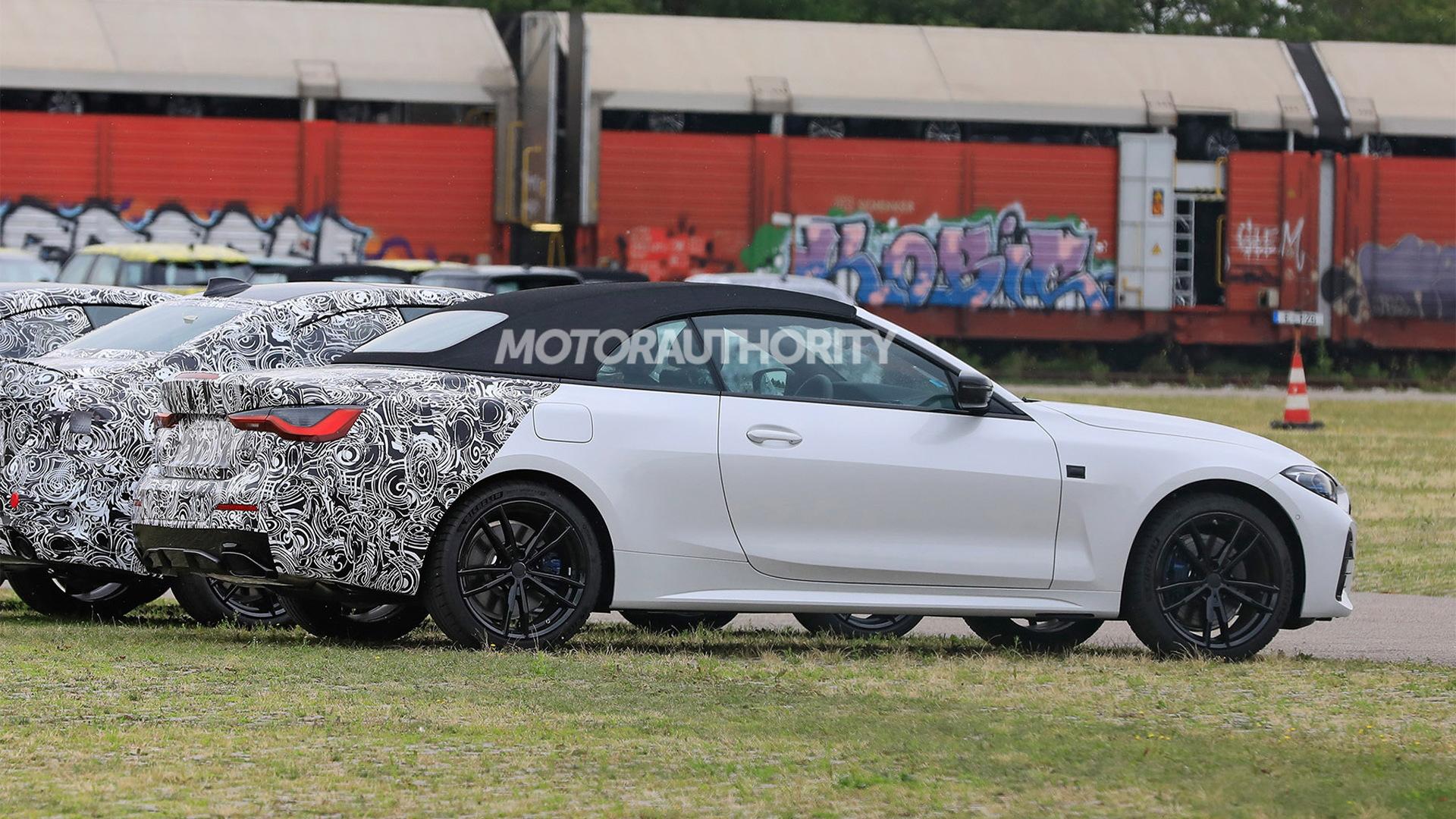2021 BMW 4-Series Convertible spy shots - Photo credit: S. Baldauf/SB-Medien