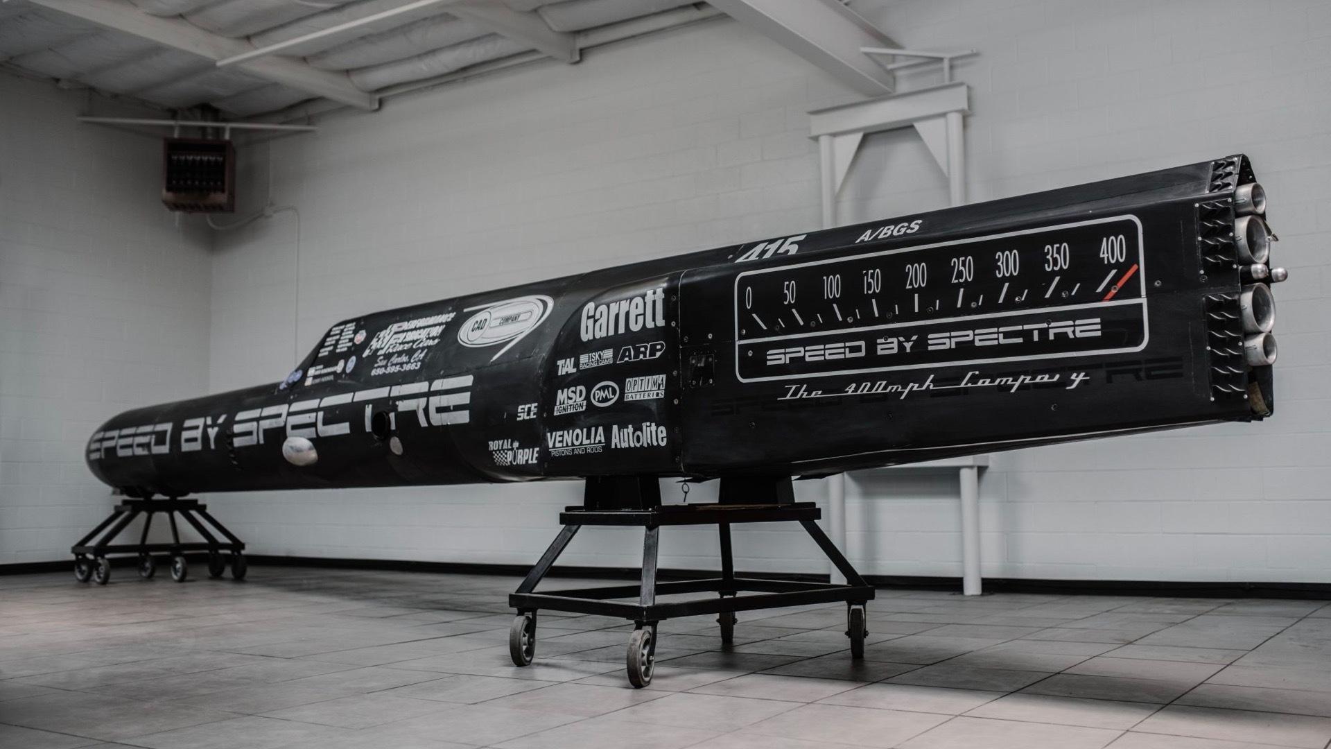 Land-speed streamliner for sale on Bring a Trailer