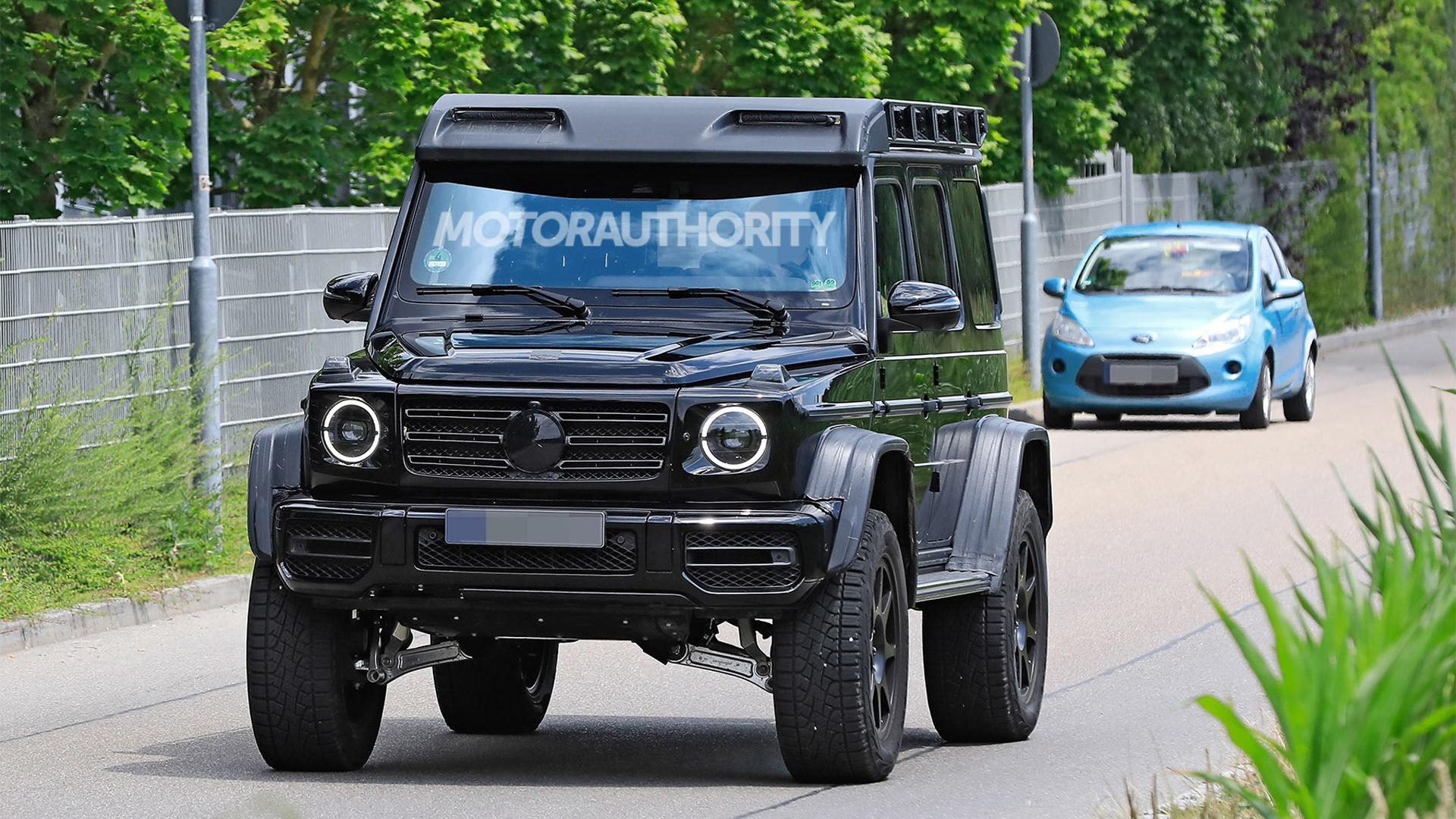 New Mercedes-Benz G550 4x4 Squared spy shots - Photo credit:S. Baldauf/SB-Medien