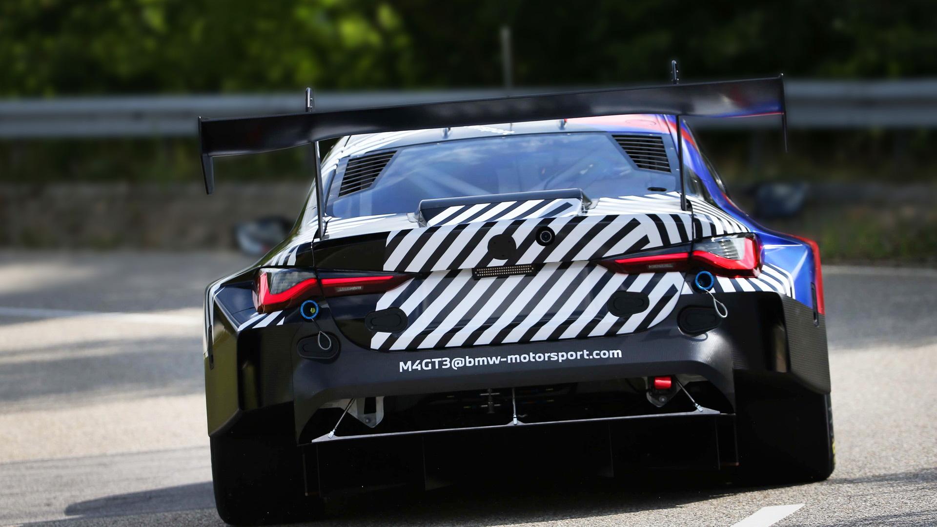 Teaser for 2022 BMW M4 GT3 race car