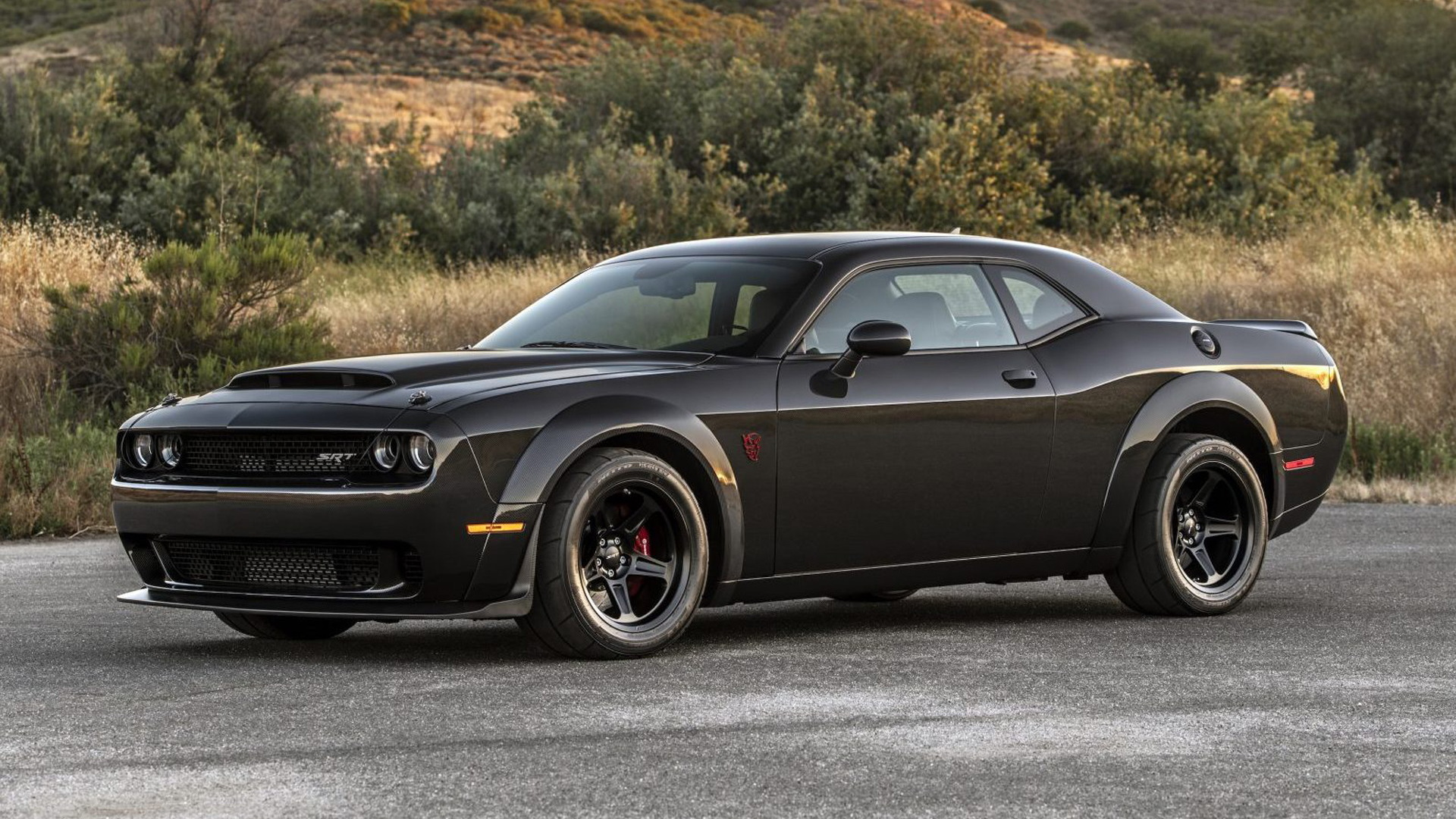 2018 Dodge Challenger SRT Demon with carbon-fiber body by SpeedKore - Photo credit: Bring a Trailer