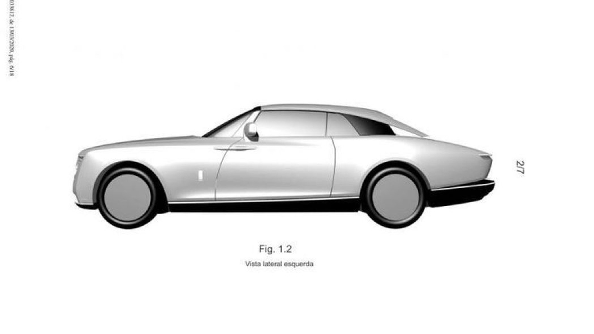 Patent drawings for mystery Rolls-Royce model - Photo credit: Taycan EV Forum