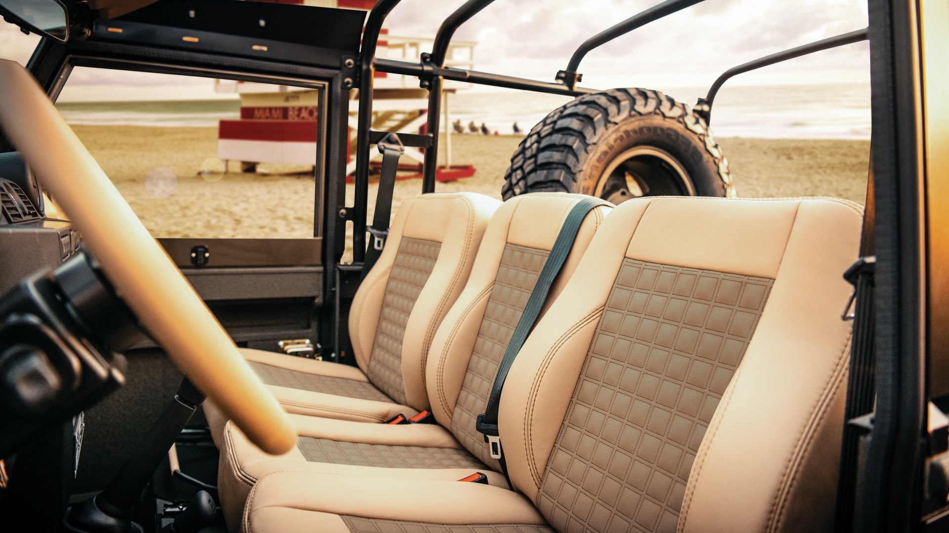 Twisted electric Land Rover Defender 90 interior