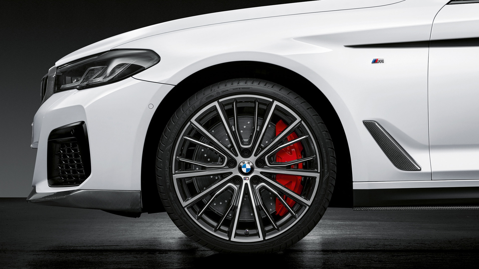 2021 BMW 5-Series fitted with M Performance parts