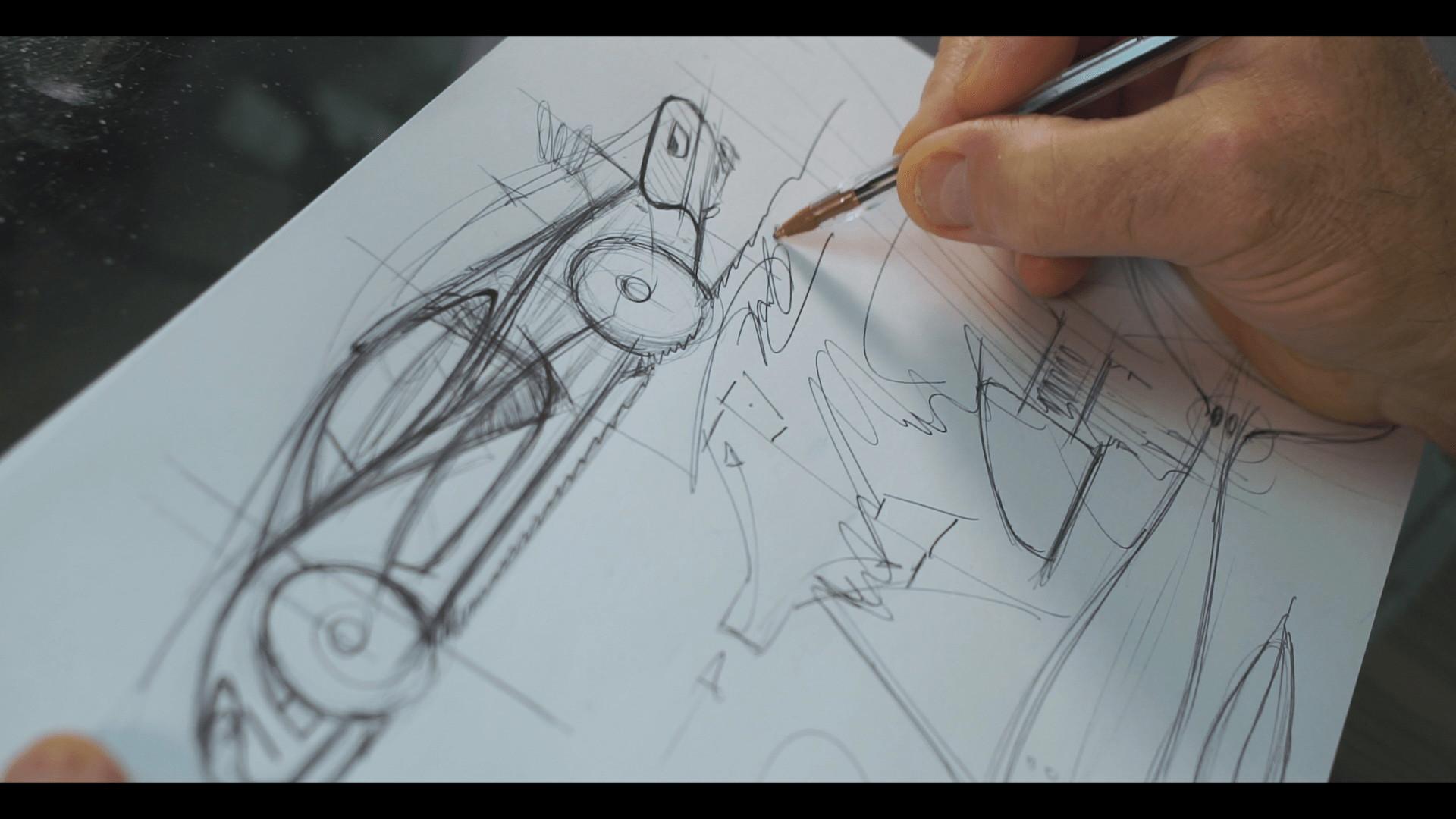 Frank Stephenson sketches the McLaren P1