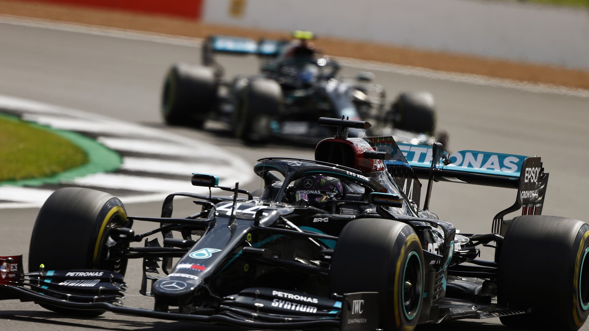 Mercedes-AMG's Lewis Hamilton at the 2020 Formula One British Grand Prix