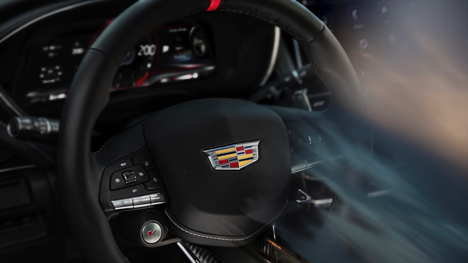 Cadillac V-Series Blackwing steering wheel teaser