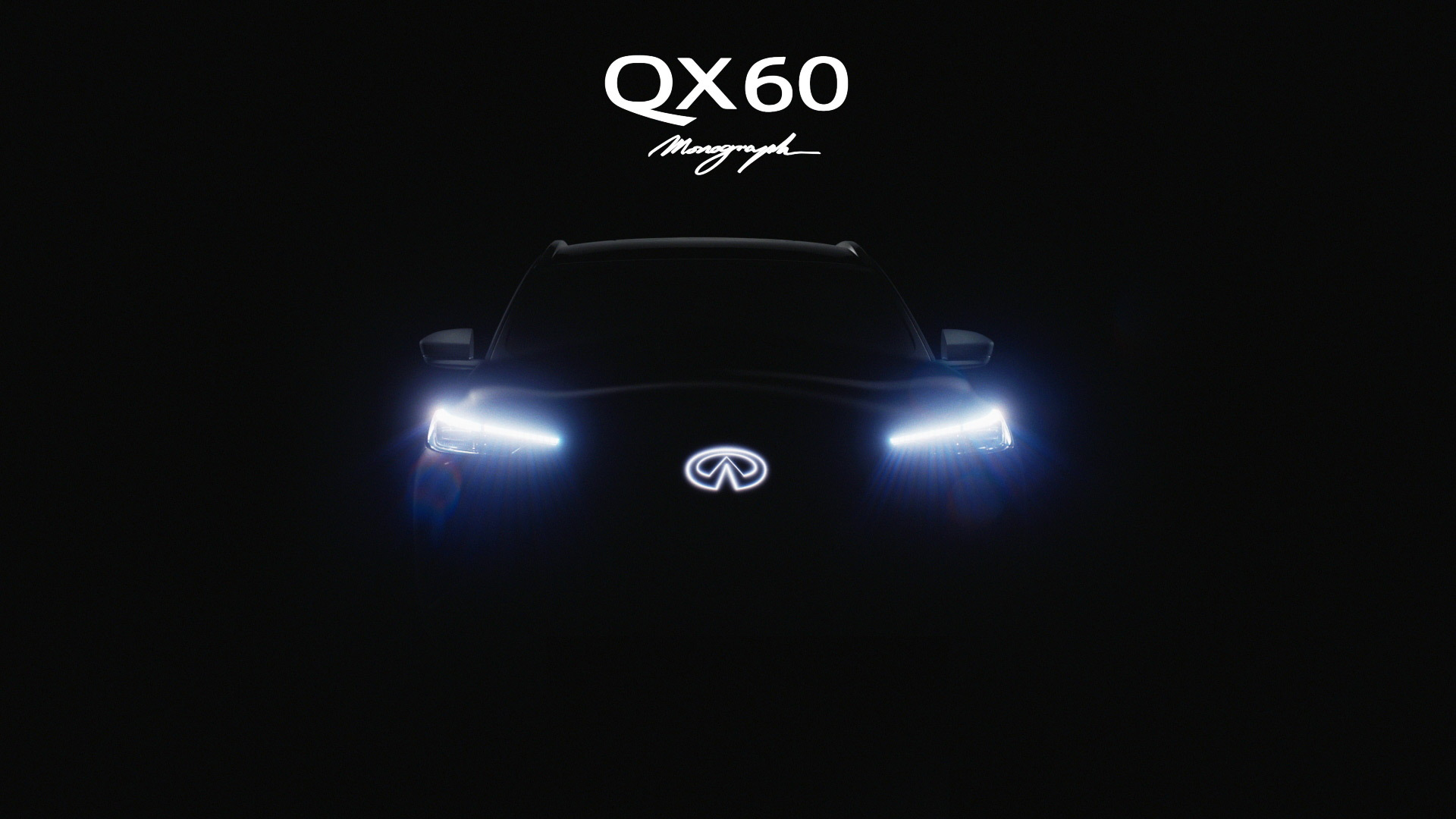Teaser for Infiniti QX60 Monograph concept debuting September 24, 2020