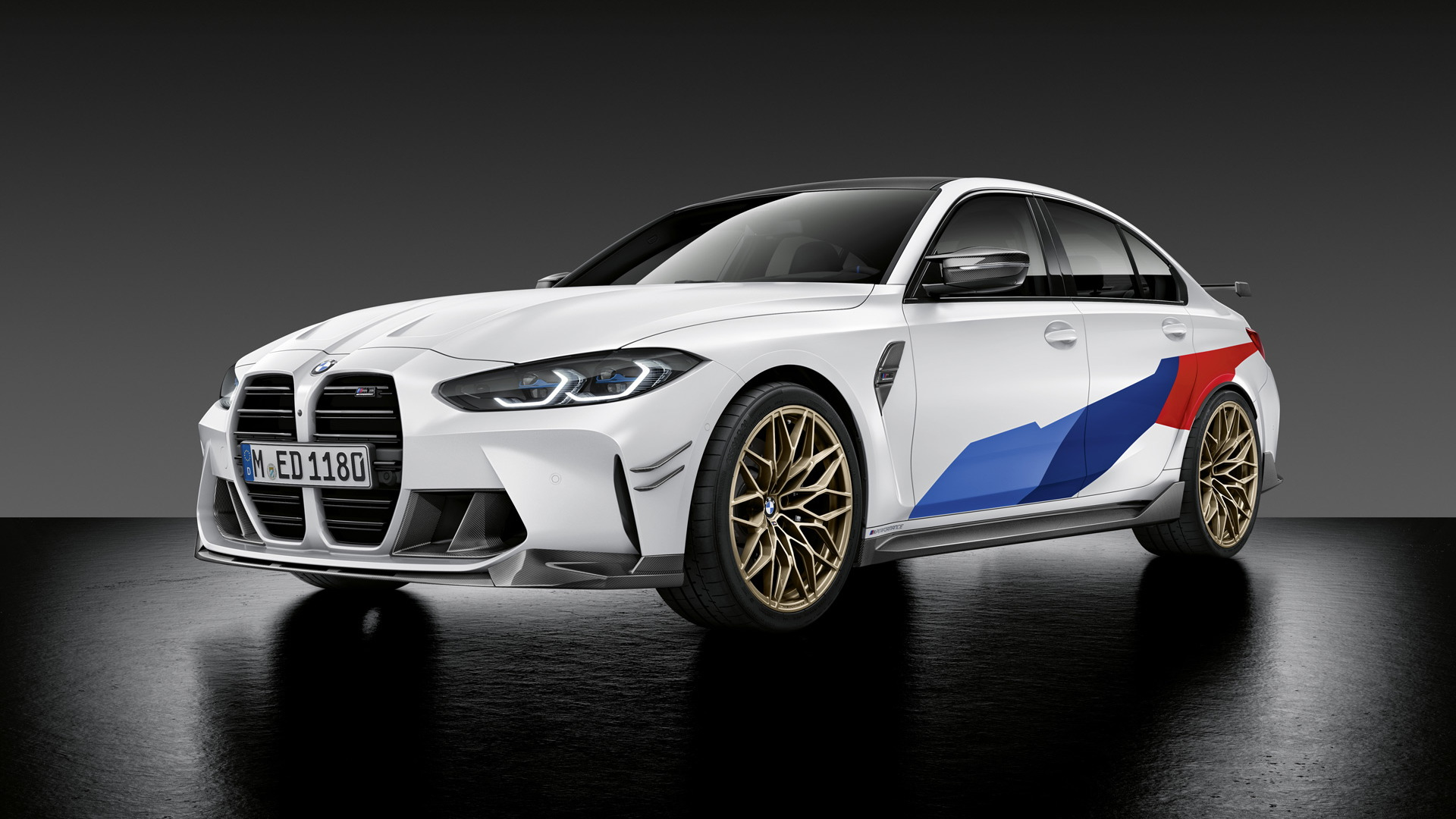 2021 BMW M3 equipped with M Performance parts