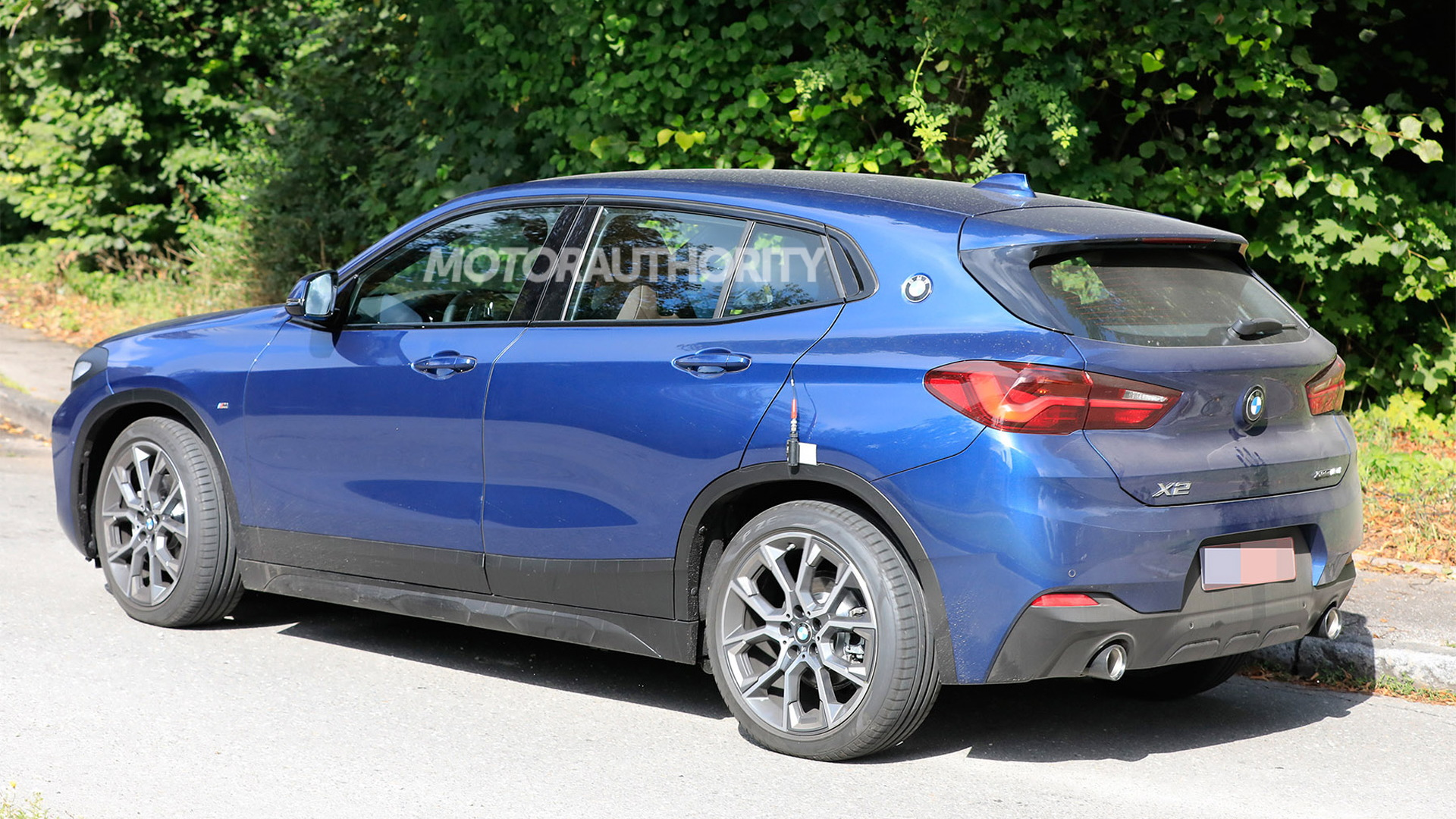 2022 BMW X2 facelift spy shots - Photo credit: S. Baldauf/SB-Medien