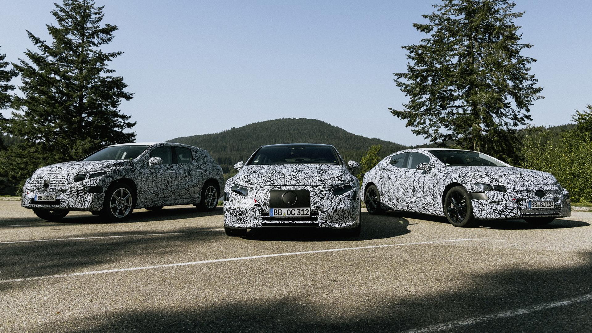 Prototypes for Mercedes-Benz EVs based on EVA platform