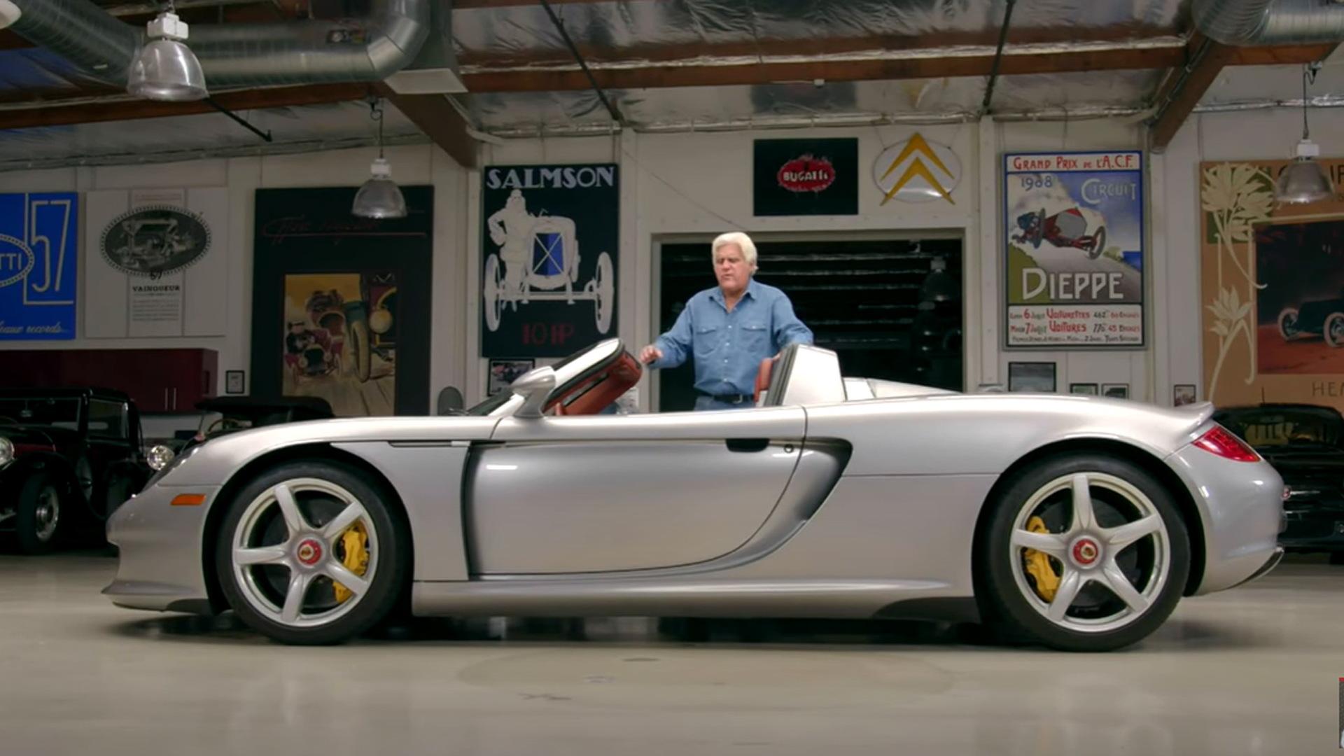 Jay Leno and his 2004 Porsche Carrera GT