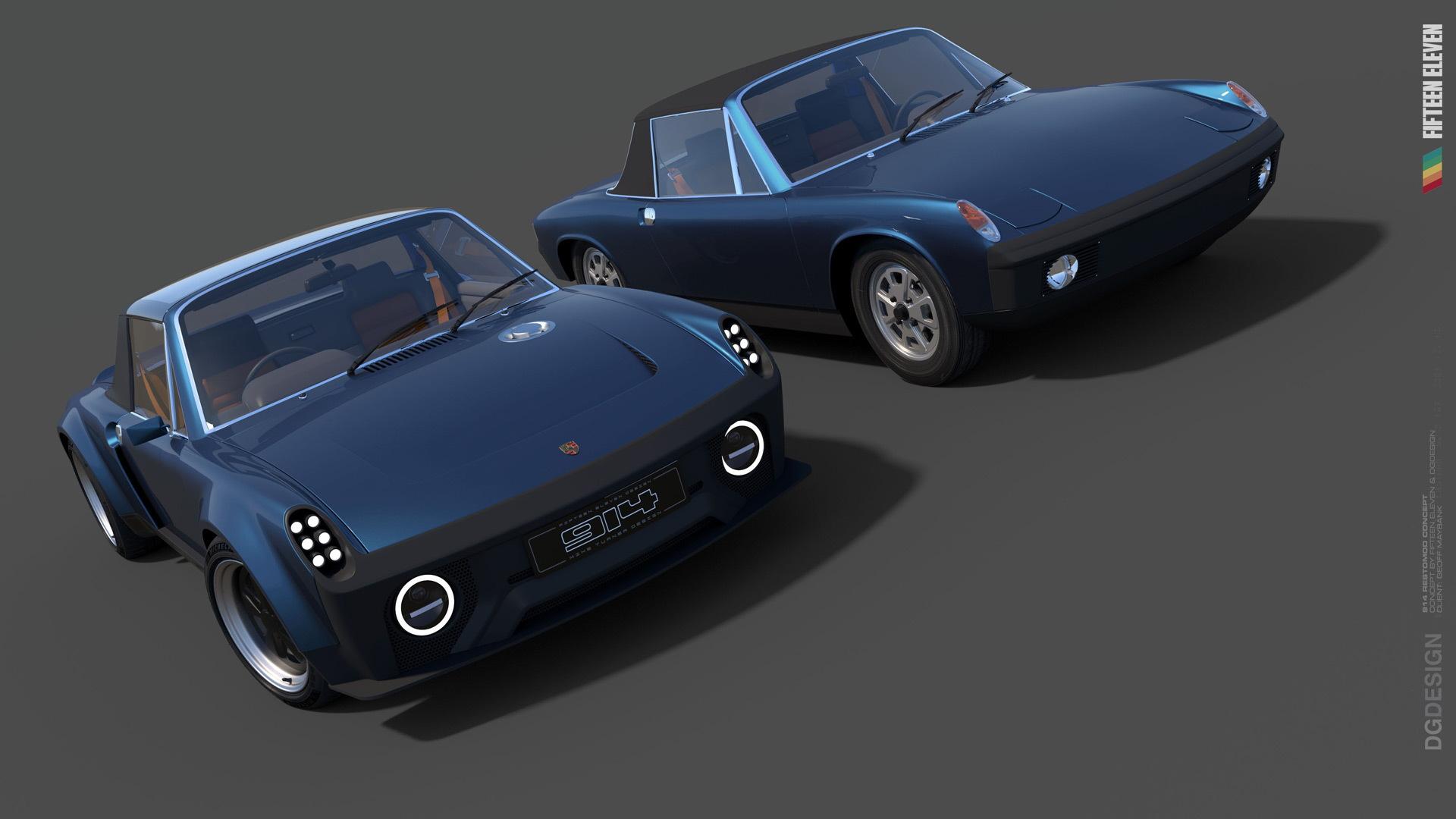 1975 Porsche 914 restomod by Fifteen Eleven Design