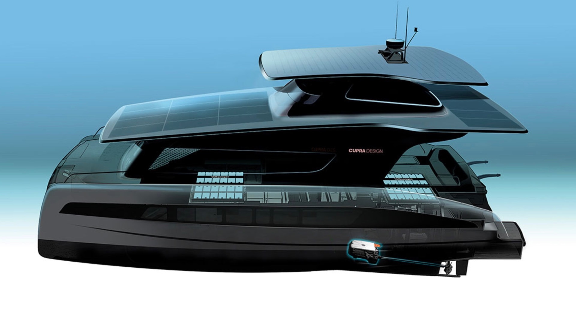 Volkswagen MEB-equipped Silent Yachts Cupra Design catamaran