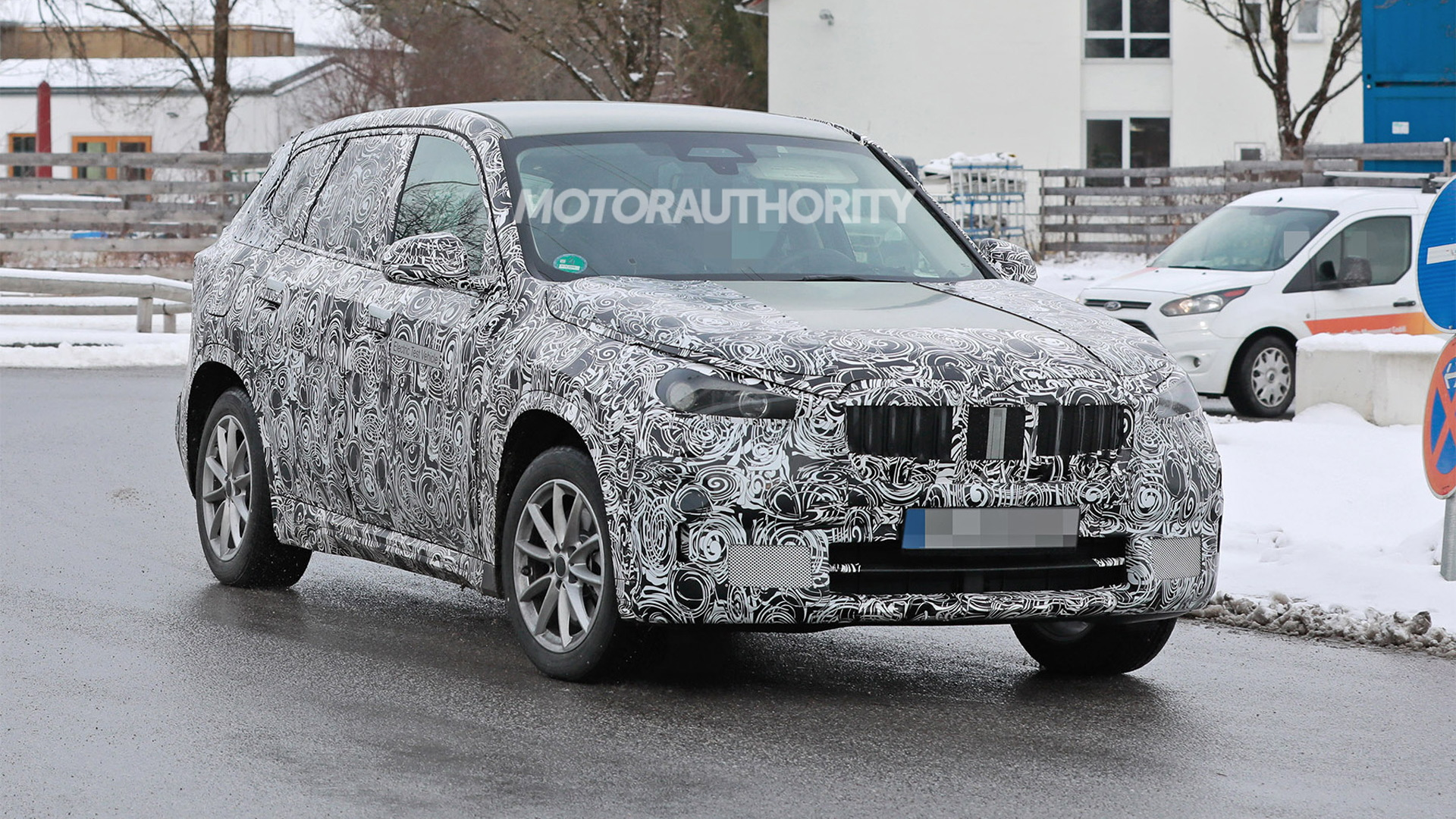 2023 BMW iX1 spy shots - Photo credit: S. Baldauf/SB-Medien