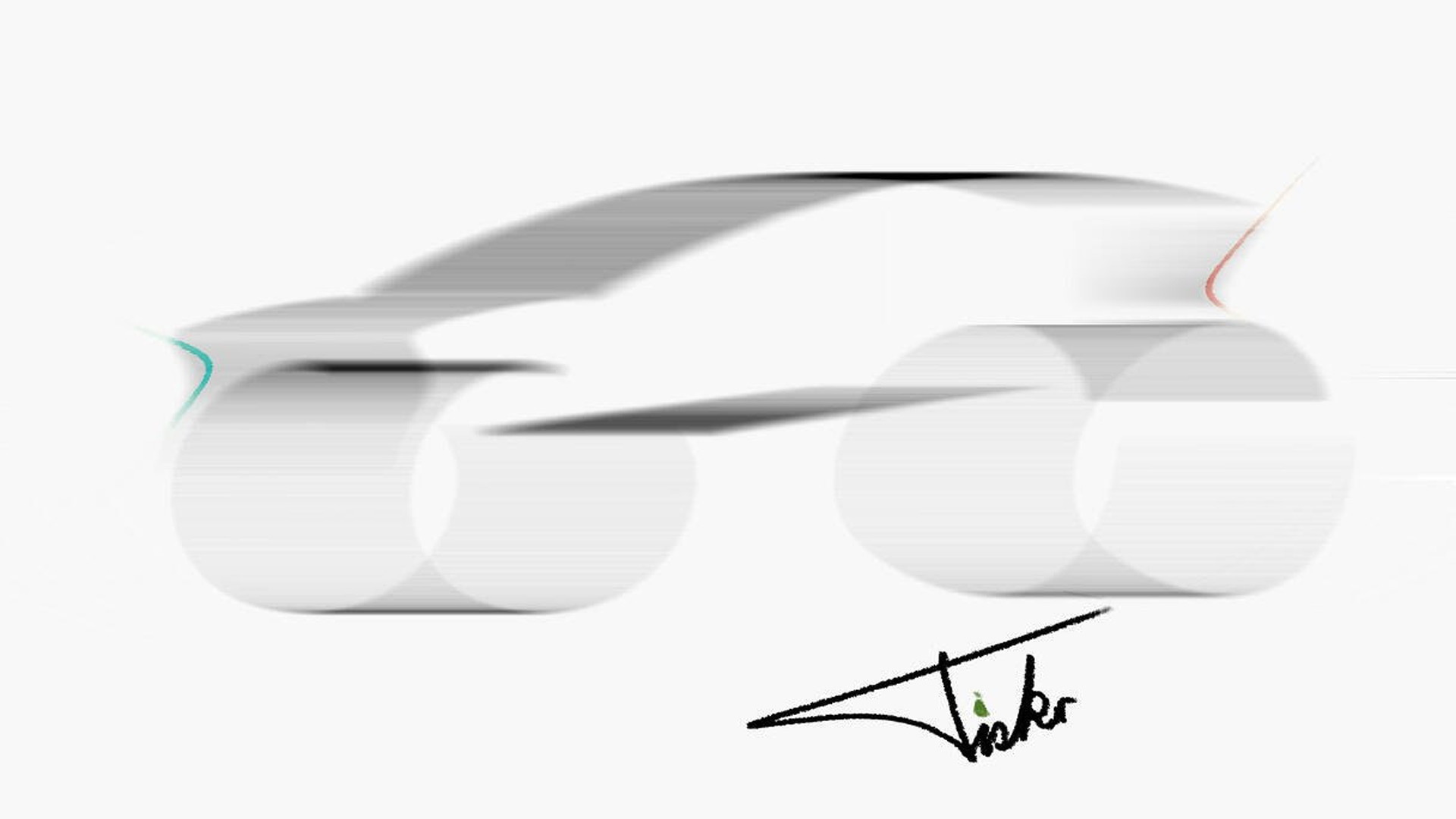 Teaser sketch for Fisker electric vehicle being developed with Foxconn