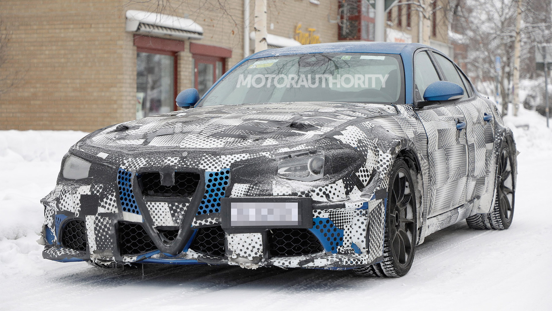 2023 Maserati GranTurismo test mule spy shots - Photo credit:S. Baldauf/SB-Medien