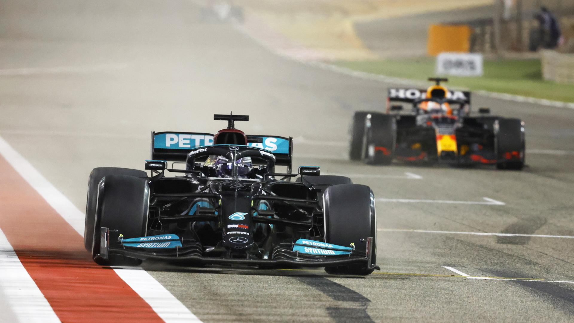 Mercedes-Benz AMG's Lewis Hamilton at the 2021 Formula One Bahrain Grand Prix