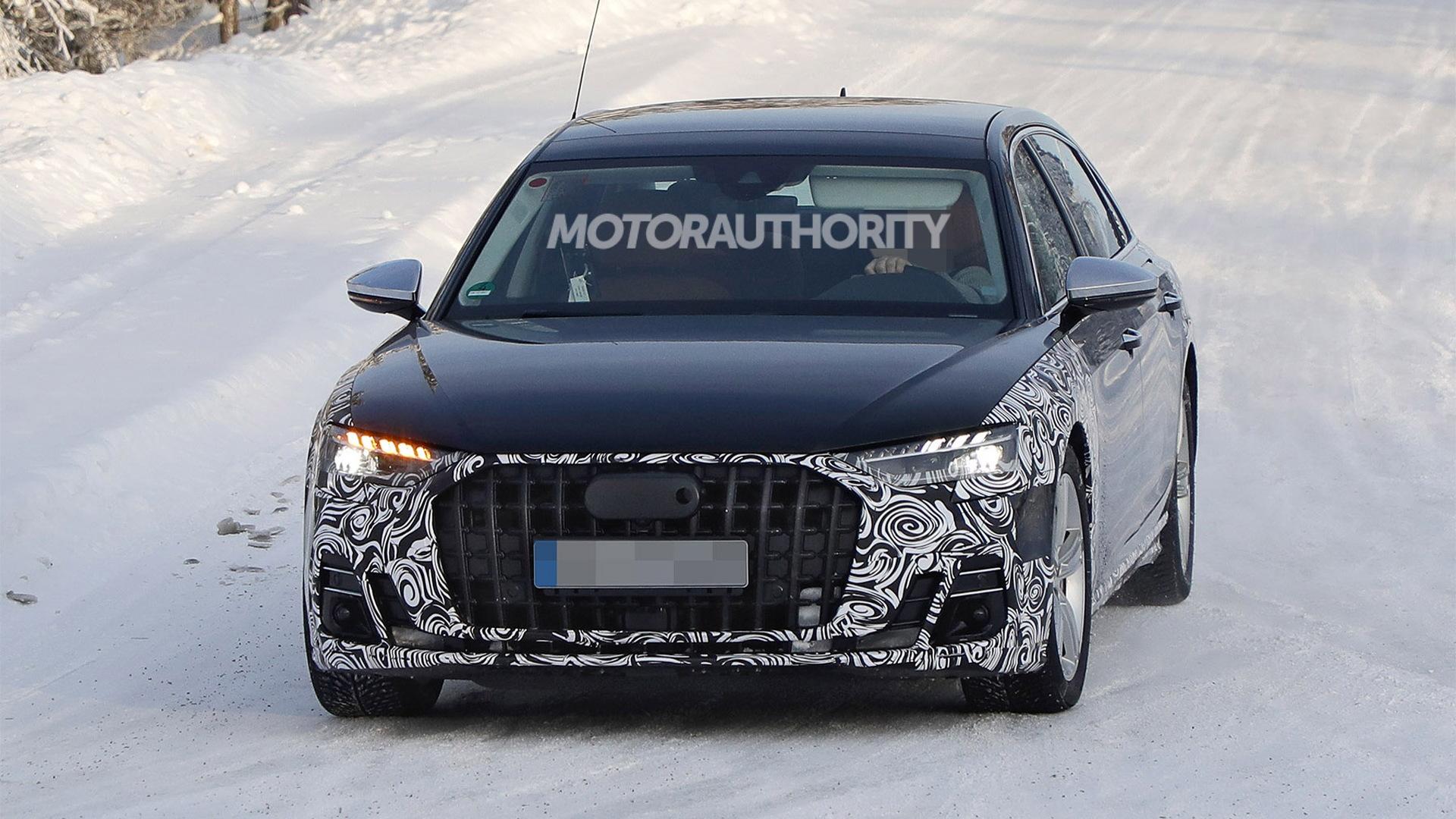 2022 Audi A8 facelift spy shots - Photo credit:S. Baldauf/SB-Medien