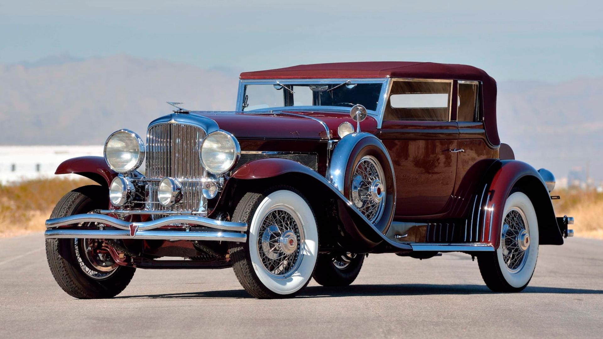 1930 Duesenberg Model SJ Rollston Convertible Victoria - Image via Mecum