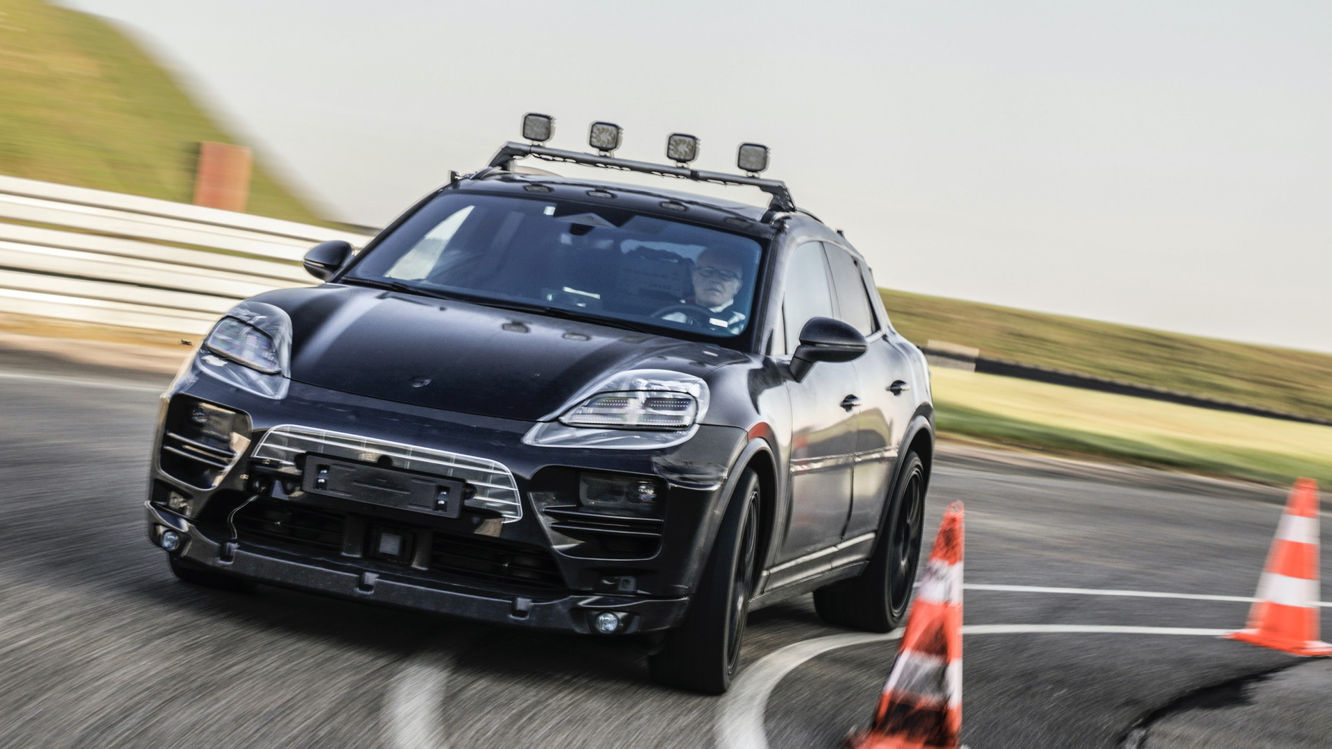 Electric Porsche Macan development