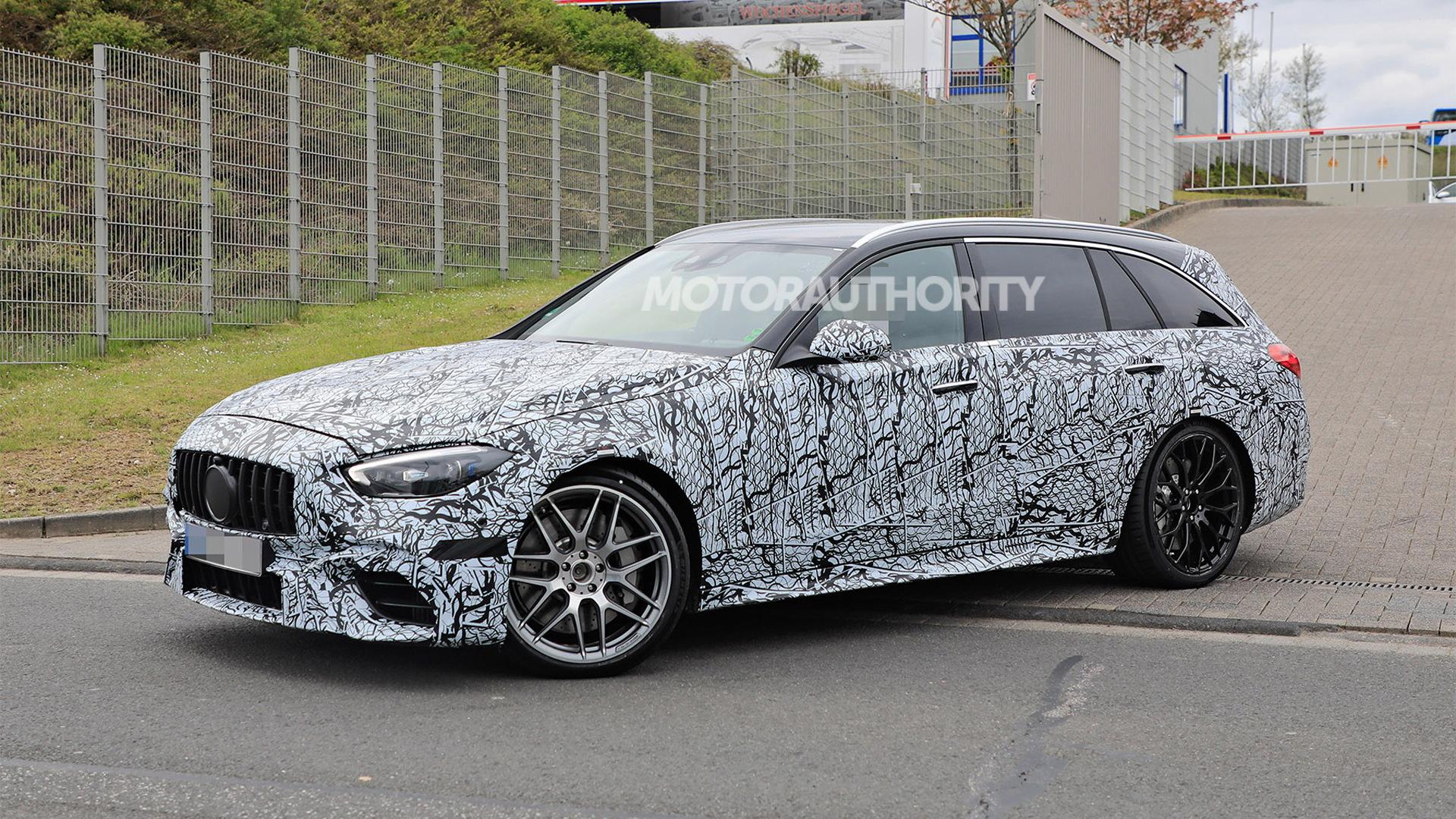 2023 Mercedes-Benz AMG C63 Wagon spy shots - Photo credit:S. Baldauf/SB-Medien