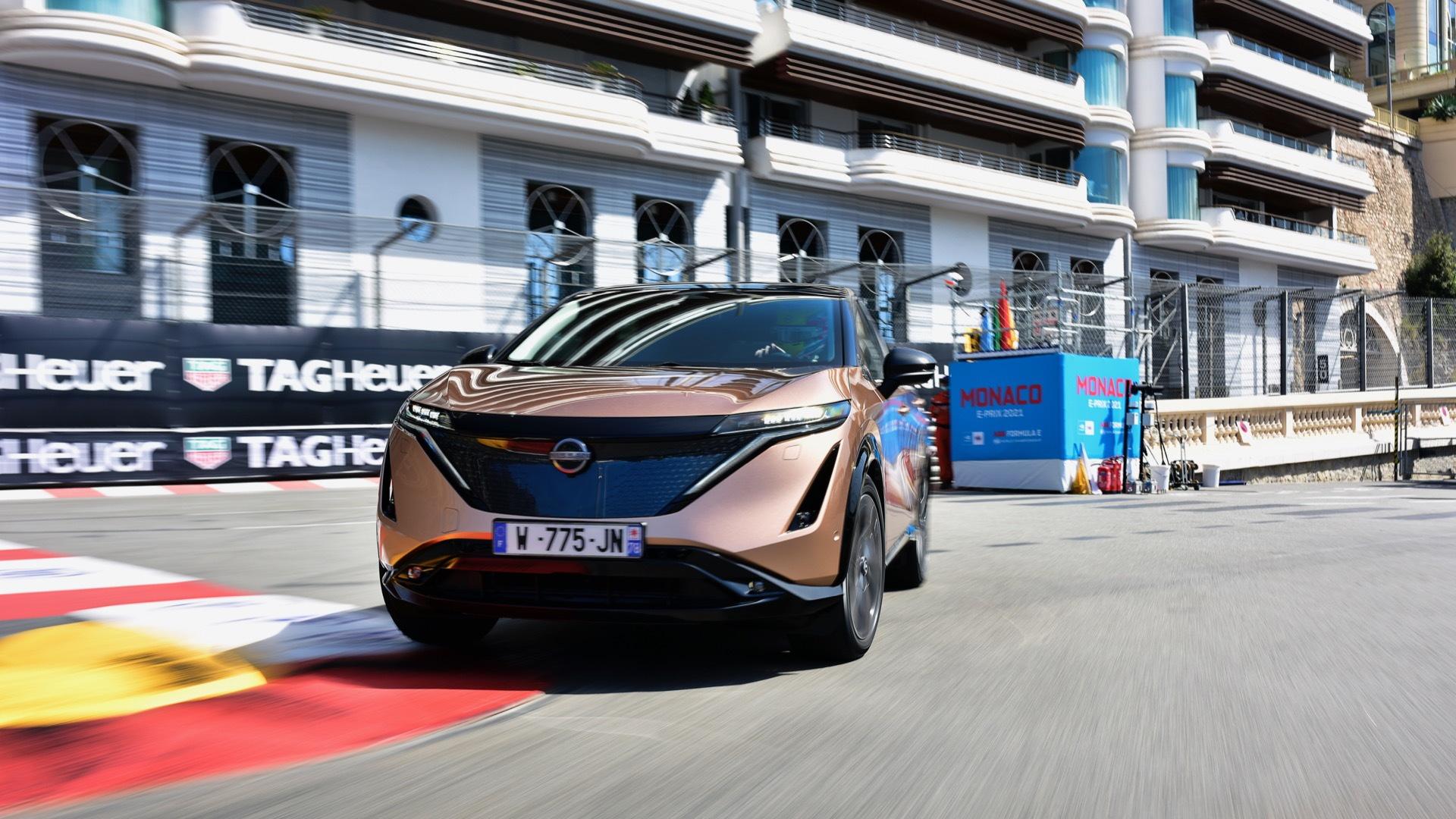 Nissan Ariya prototype in Monaco