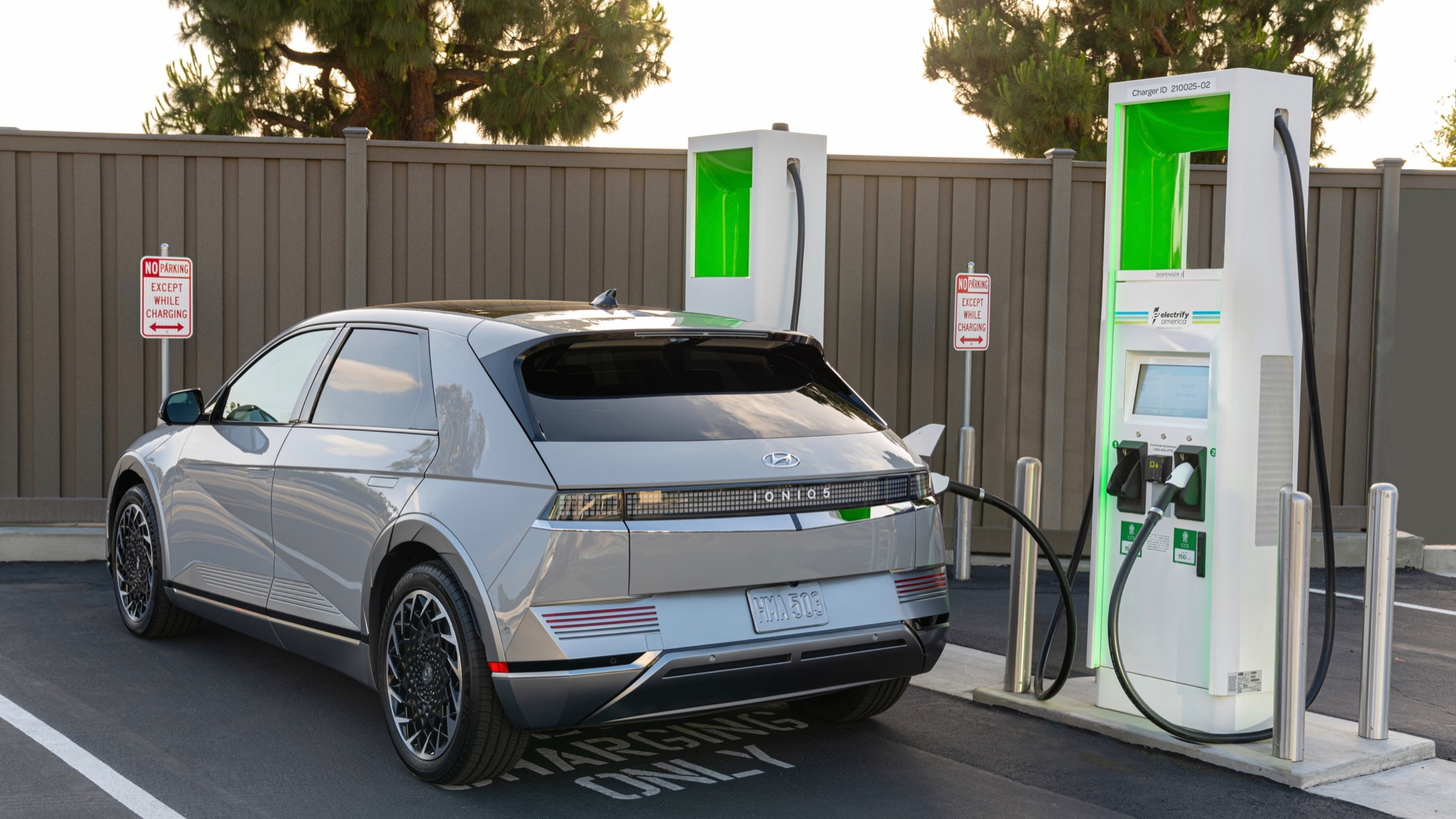 2022 Hyundai IONIQ 5 at Electrify America DC fast-charging station