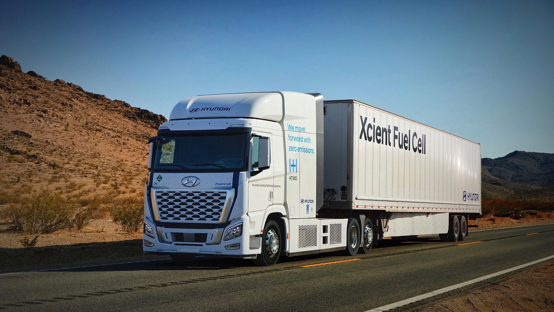 Hyundai Xcient Fuel Cell semi truck to be used in California tests