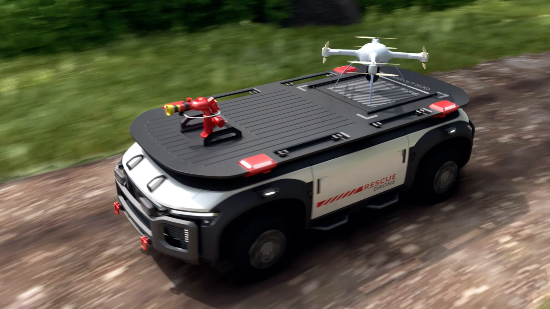 Hyundai fuel cell rescue vehicle
