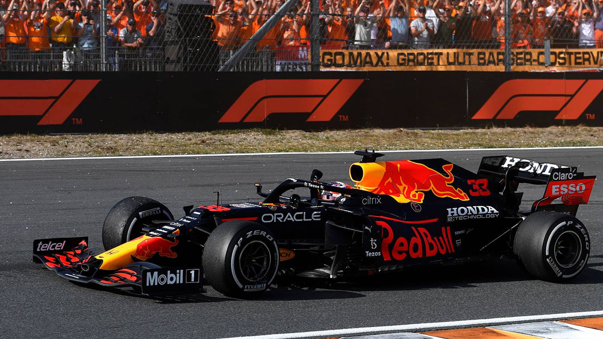 Red Bull Racing's Max Verstappen at the 2021 Formula One Dutch Grand Prix