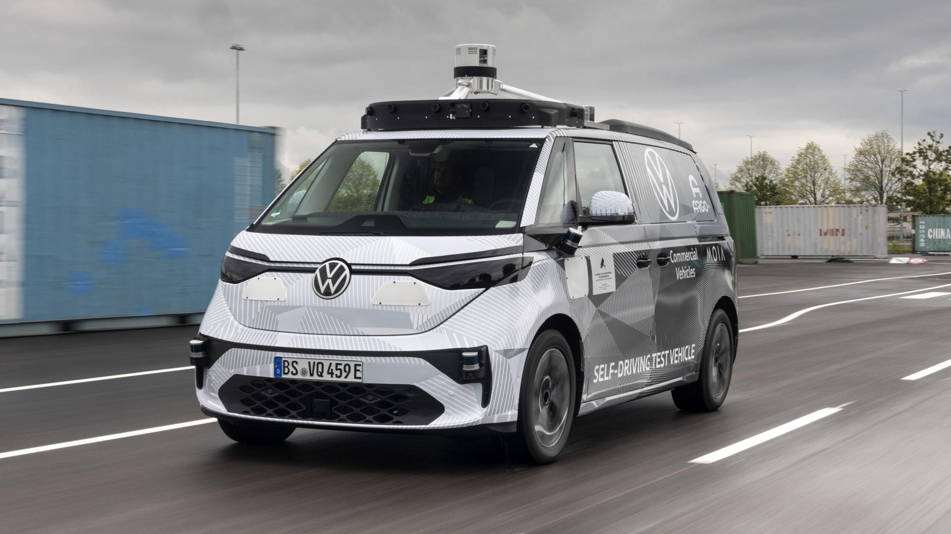 Volkswagen ID.Buzz AD self-driving car prototype