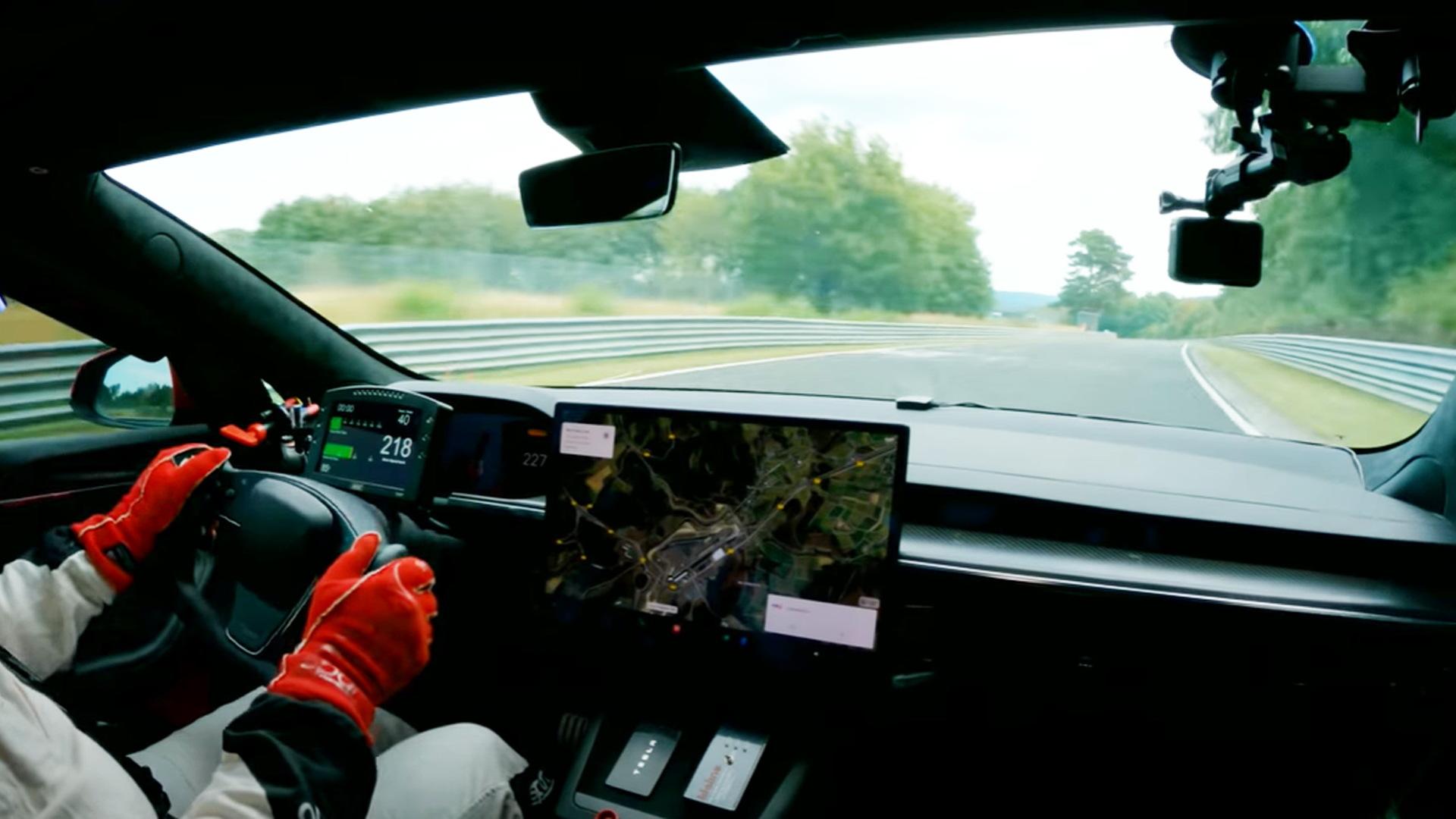 2021 Tesla Model S Plaid during Nürburgring attempt