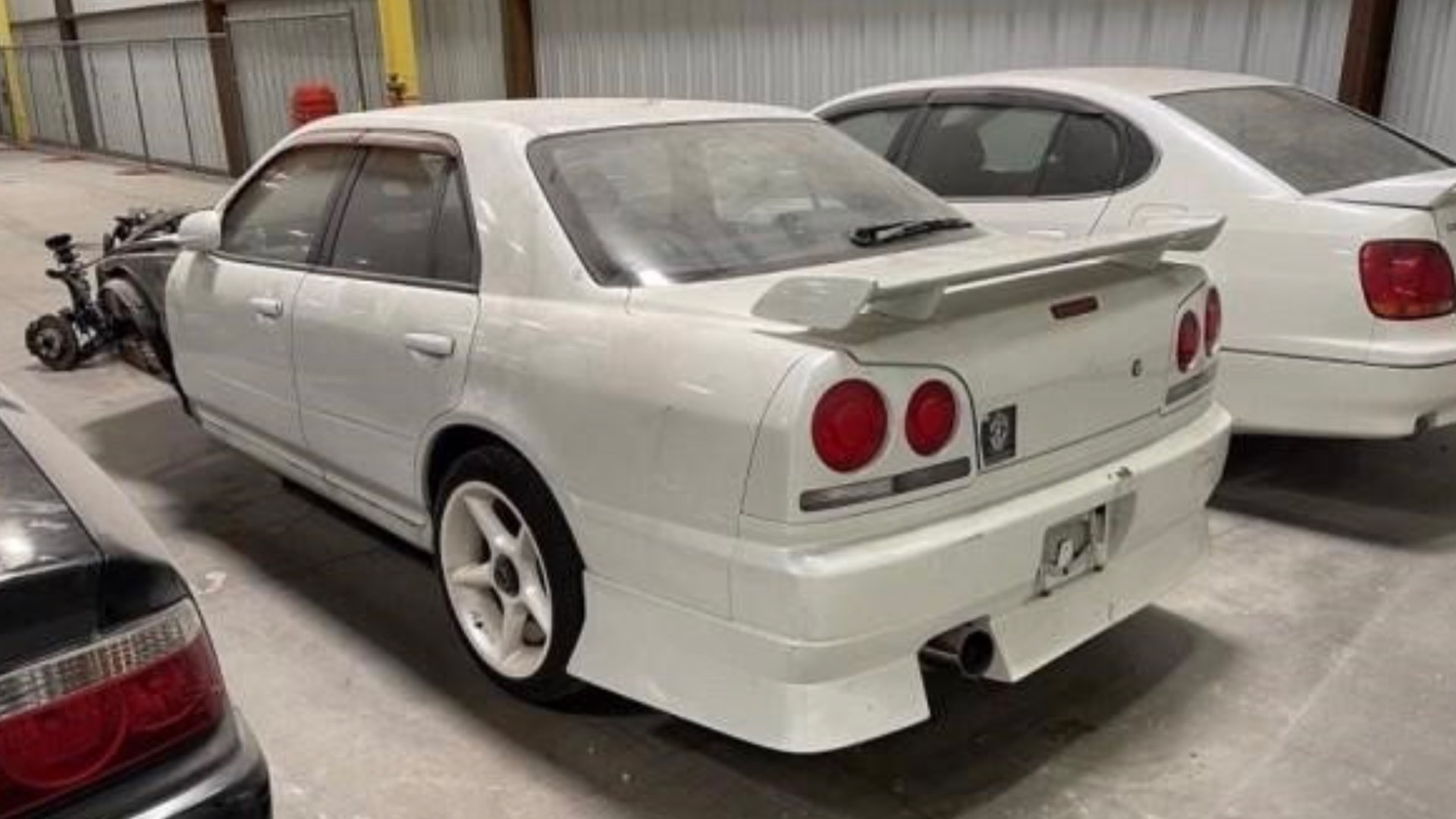 Seized JDM cars head for auction (photo via Apple Towing Co.)