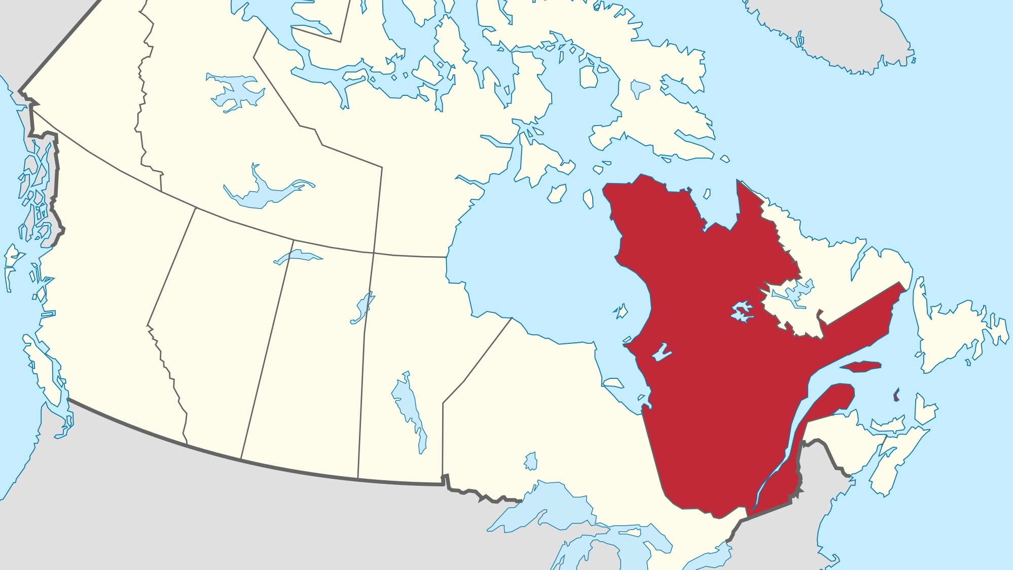 Province of Quebec in Canada