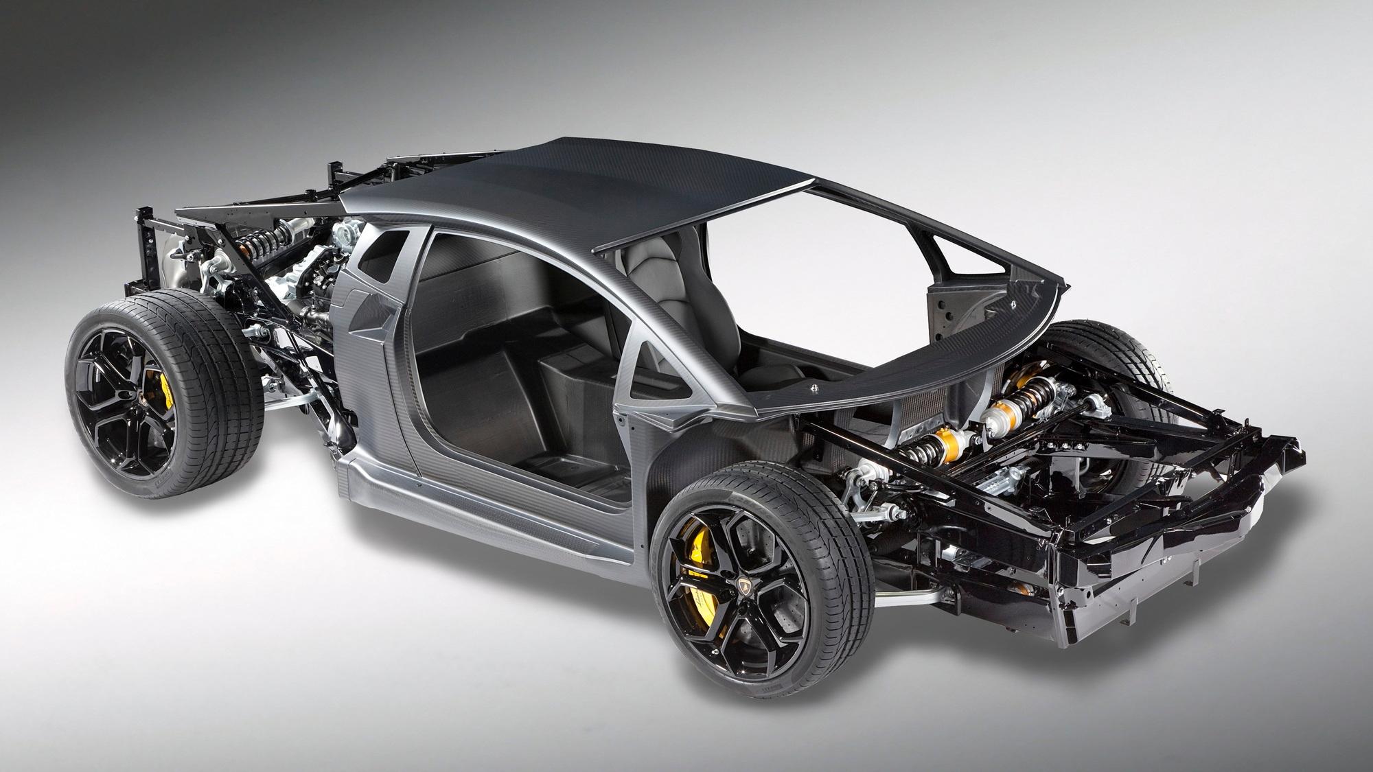 Lamborghini Aventador LP700-4 rolling chassis