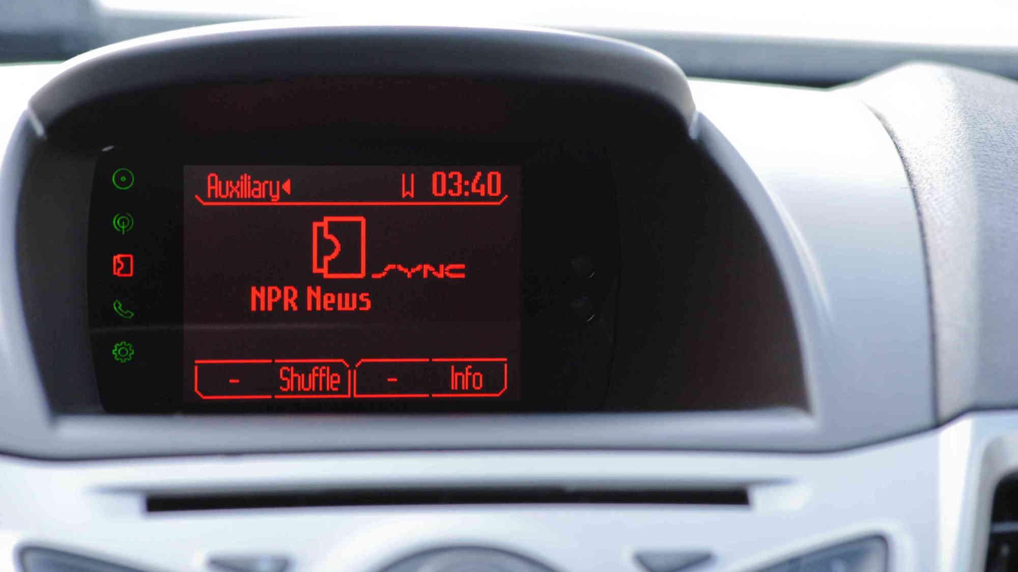 NPR News App with Ford Sync AppLink  -  2012 CES