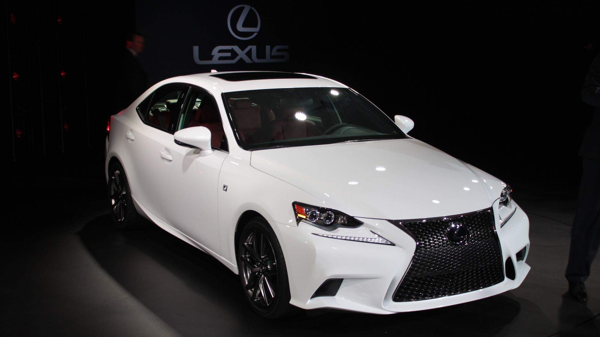 2014 Lexus IS 350 F Sport live photos, 2013 Detroit Auto Show