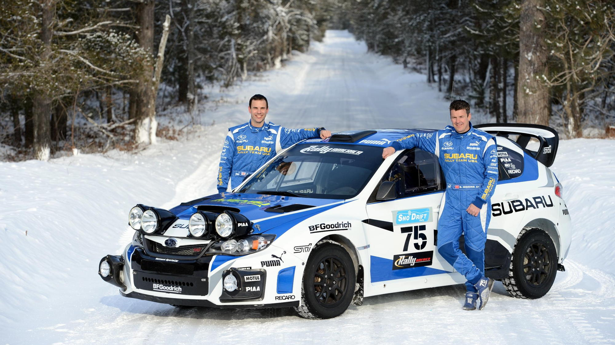 2013 Subaru Rally Team USA WRX STI rally car