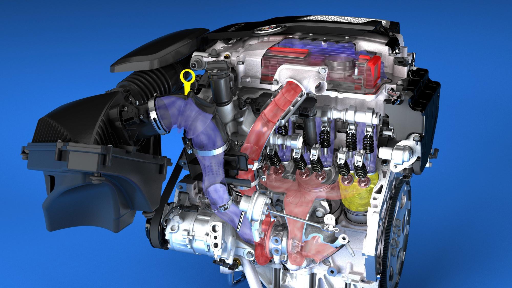 2014 3.6L V-6 VVT DI Twin Turbo (LF3) for Cadillac CTS