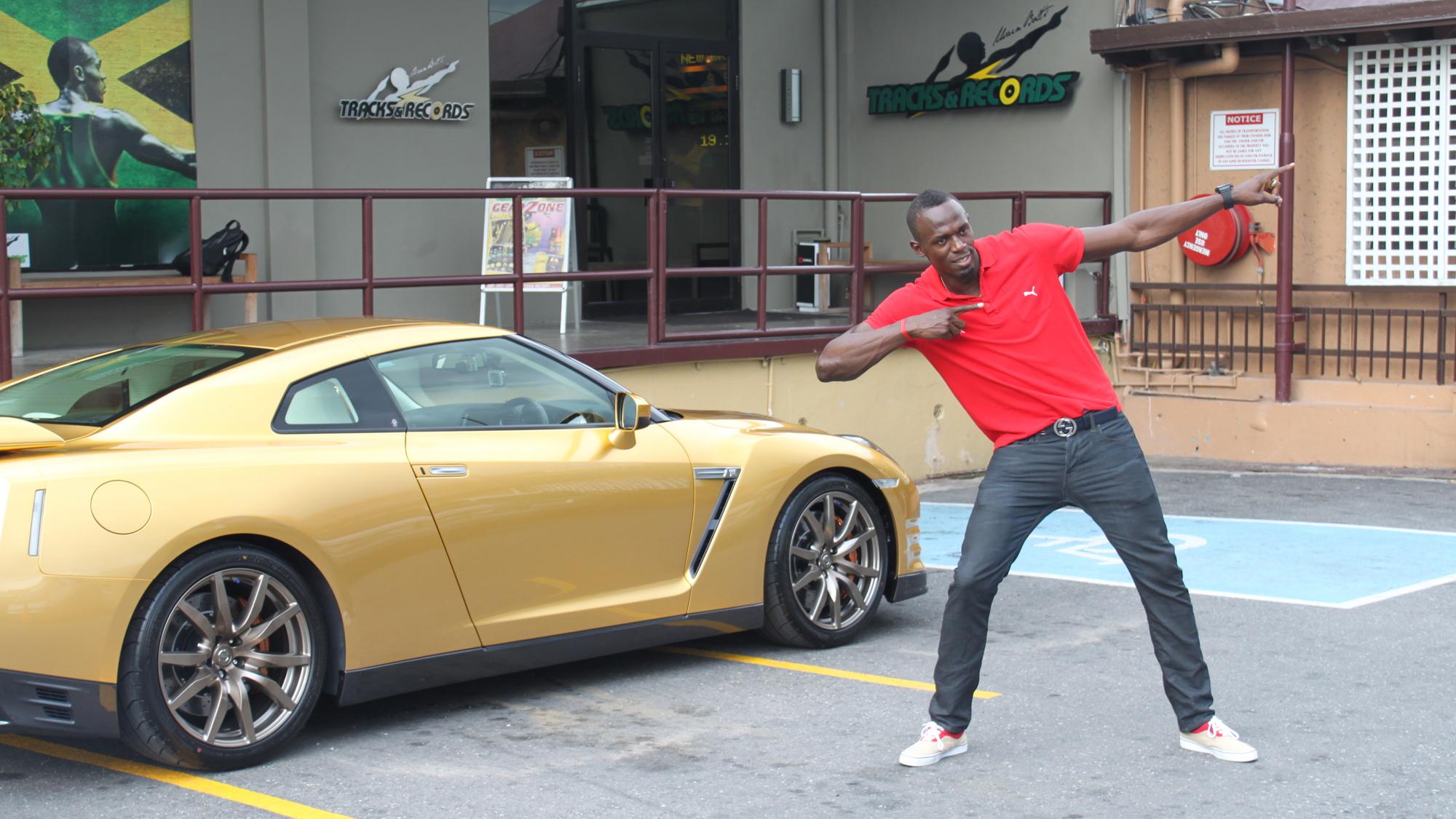 Gold Nissan GT-R for Usain Bolt