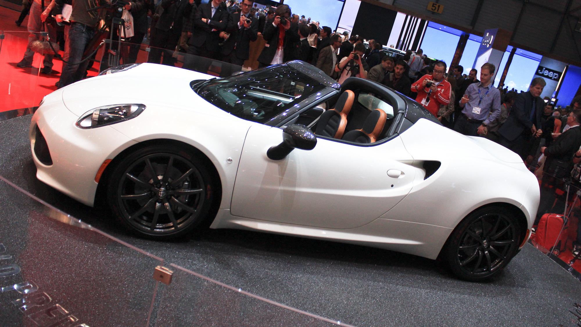 Alfa Romeo 4C Spider, 2014 Geneva Motor Show