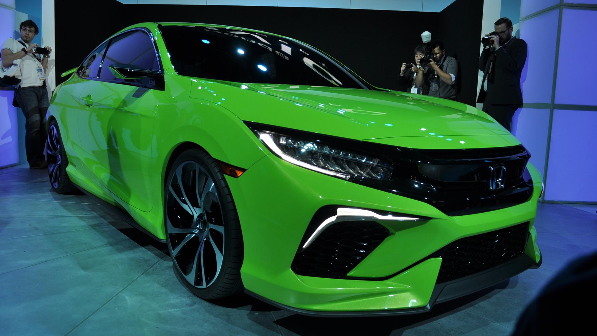 Honda Civic Concept Live Shots, 2015 New York Auto Show