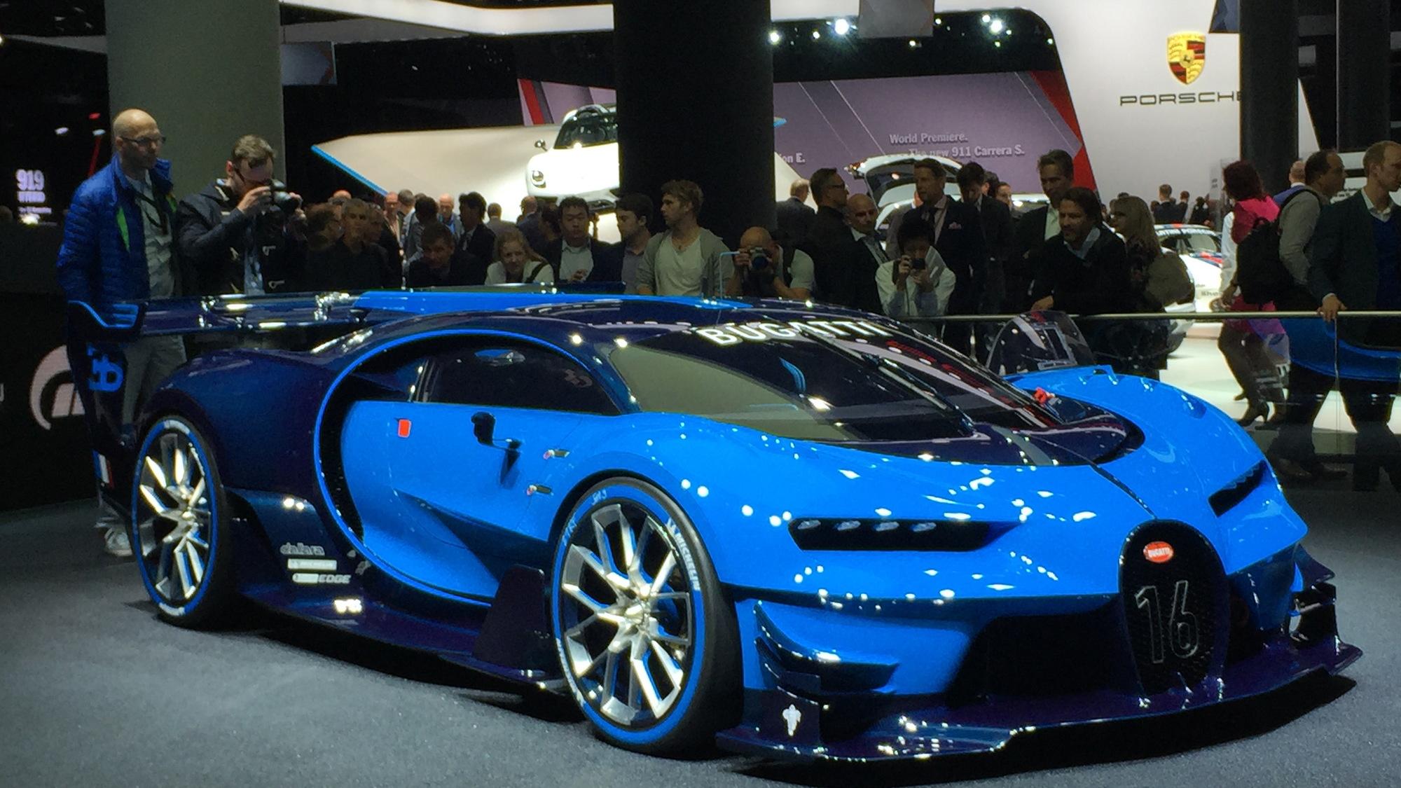 Bugatti Vision Gran Turismo concept, 2015 Frankfurt Auto Show