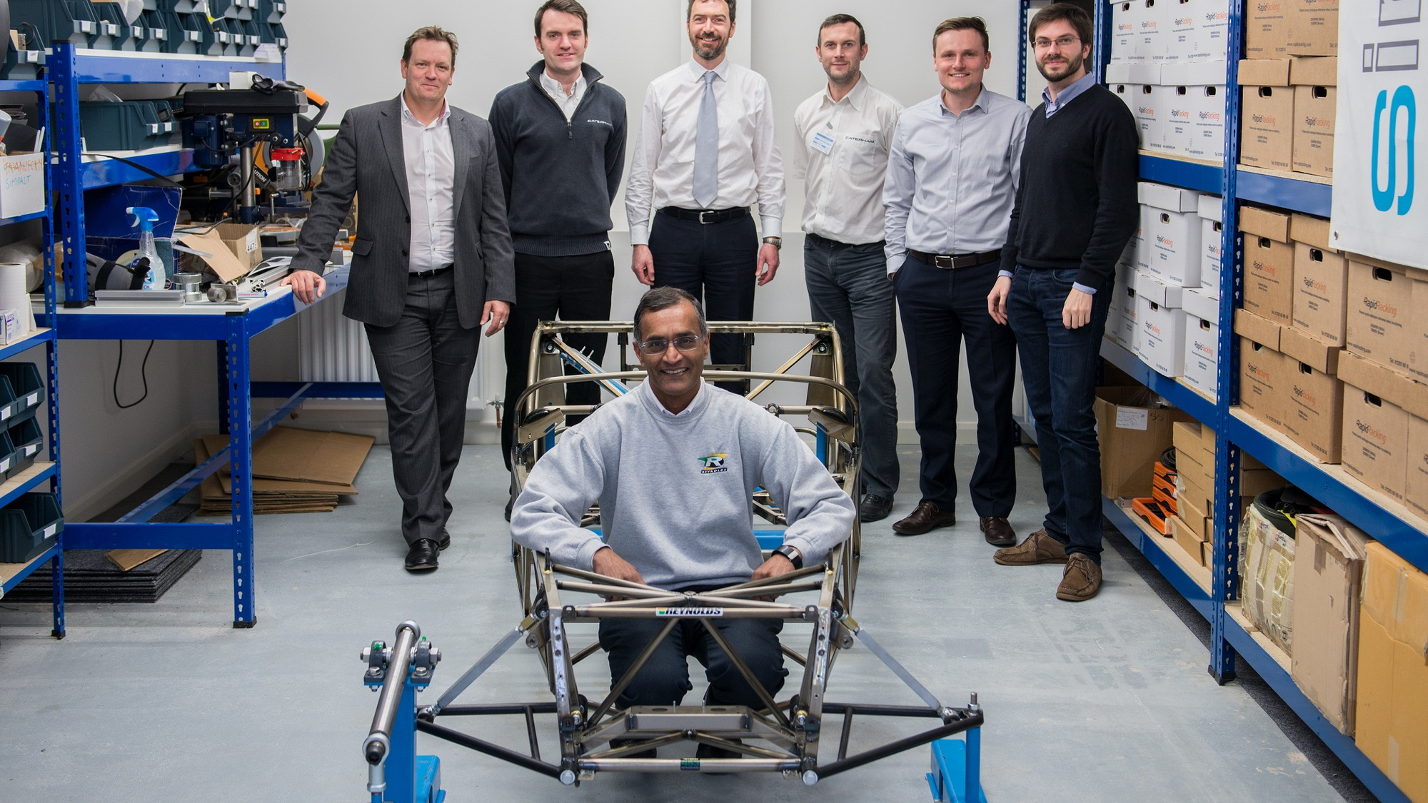"Caterham builds lighter Seven chassis using bicycle ""butted tubing"" technology"