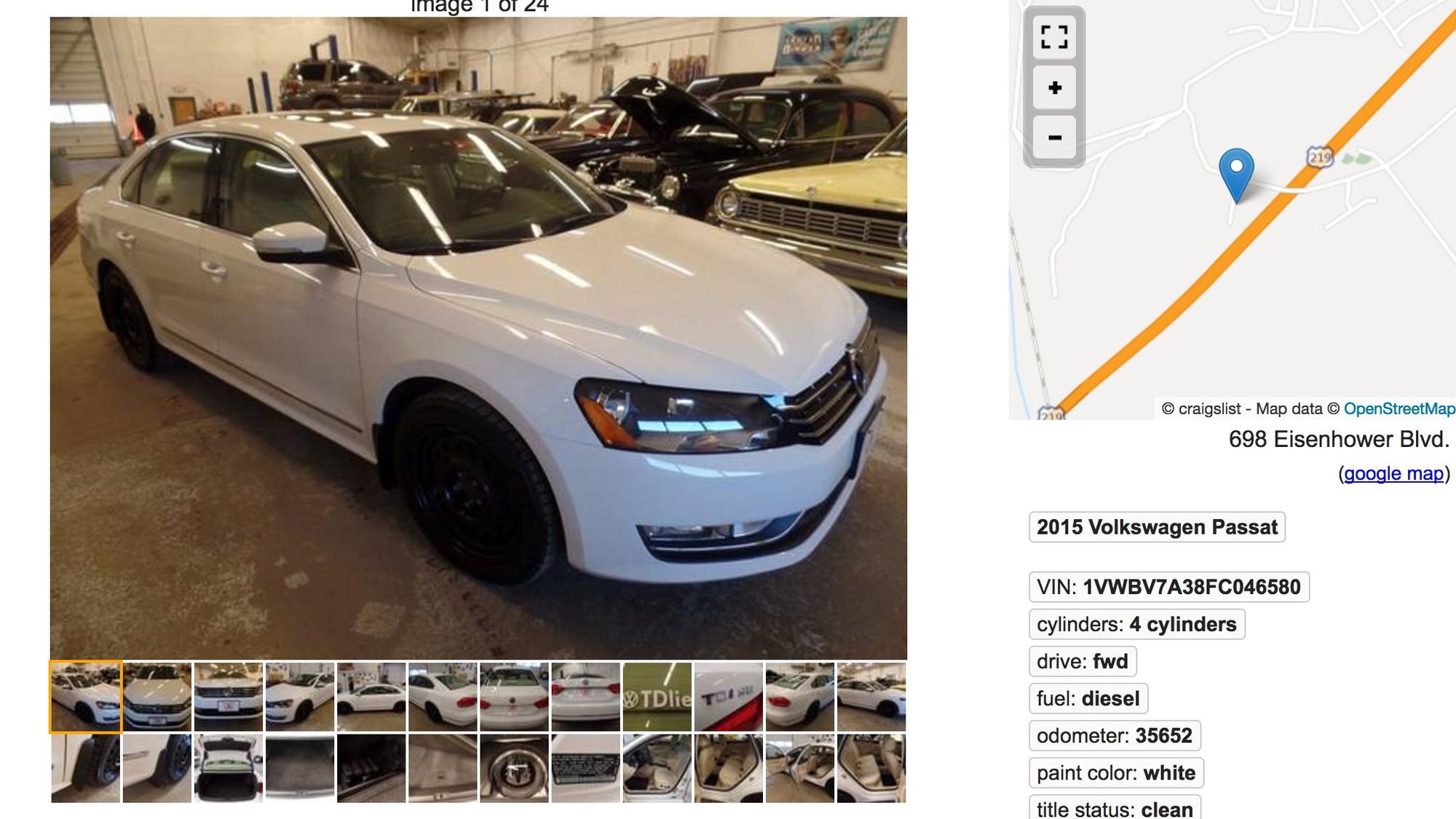 2015 Volkswagen Passat TDI online ad