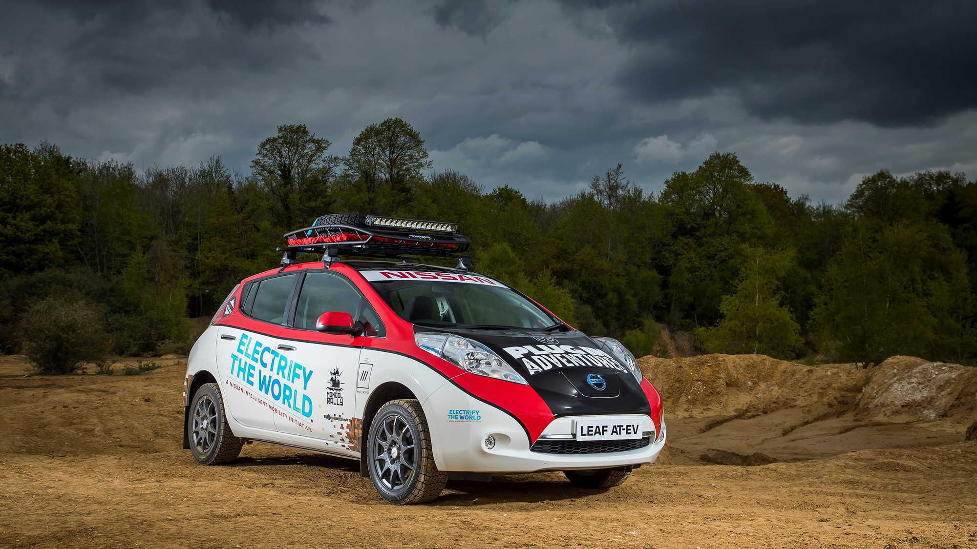 AT-EV Nissan Leaf prepped for the Mongol Rally