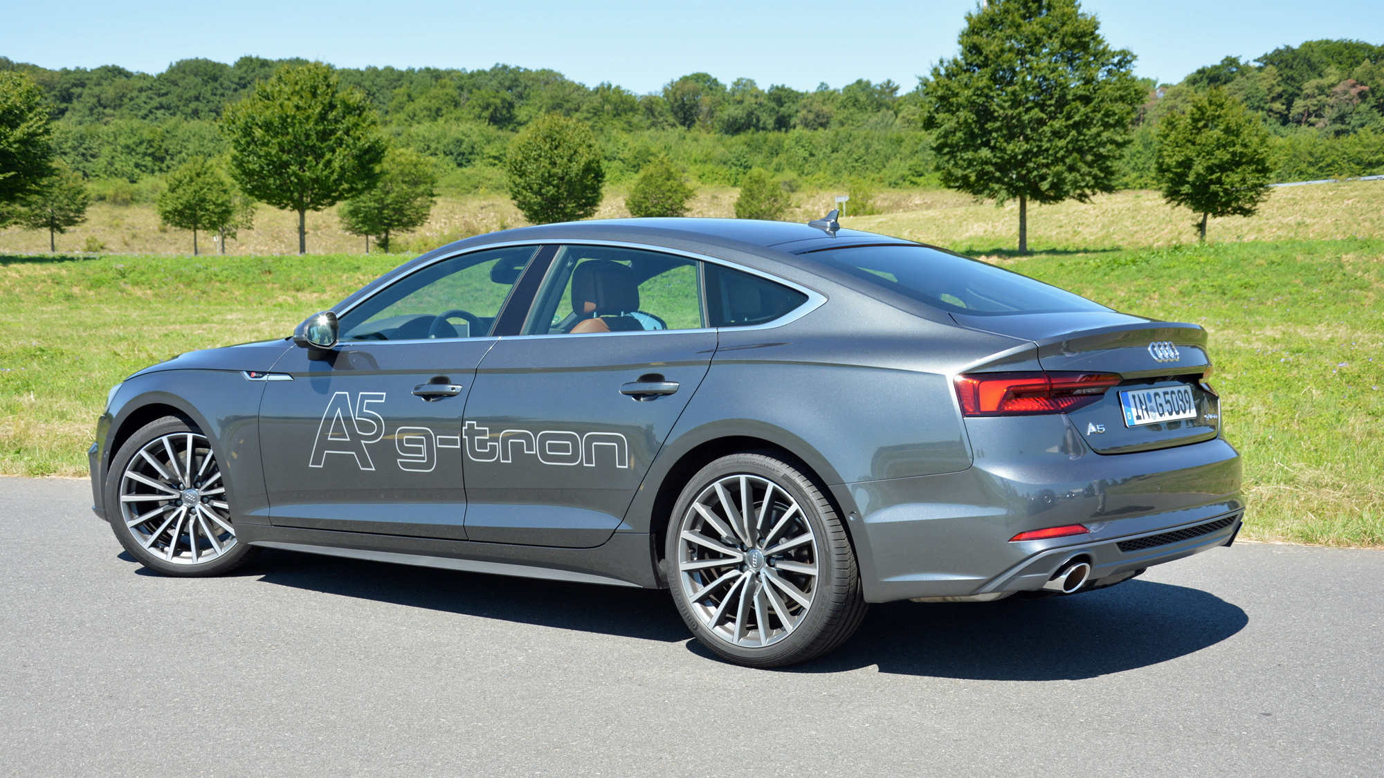 2017 Audi A5 Sportback g-tron (European model), driven, Aug 2017  [photo: Ronan Glon]