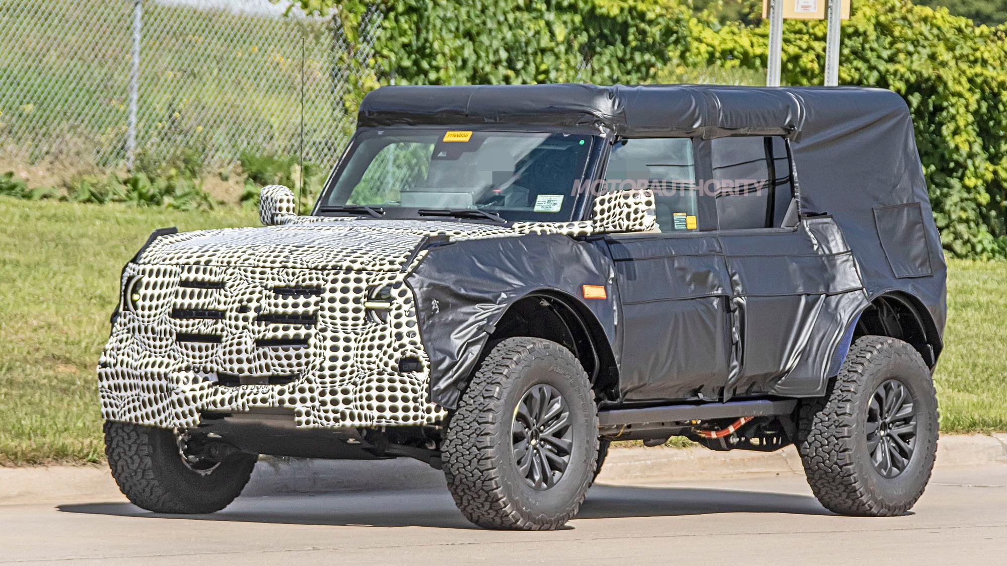 2021 Ford Bronco Raptor (or Warthog) spy shots