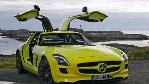 Mercedes-Benz SLS AMG E-Cell electric vehicle (image via Auto Bild)